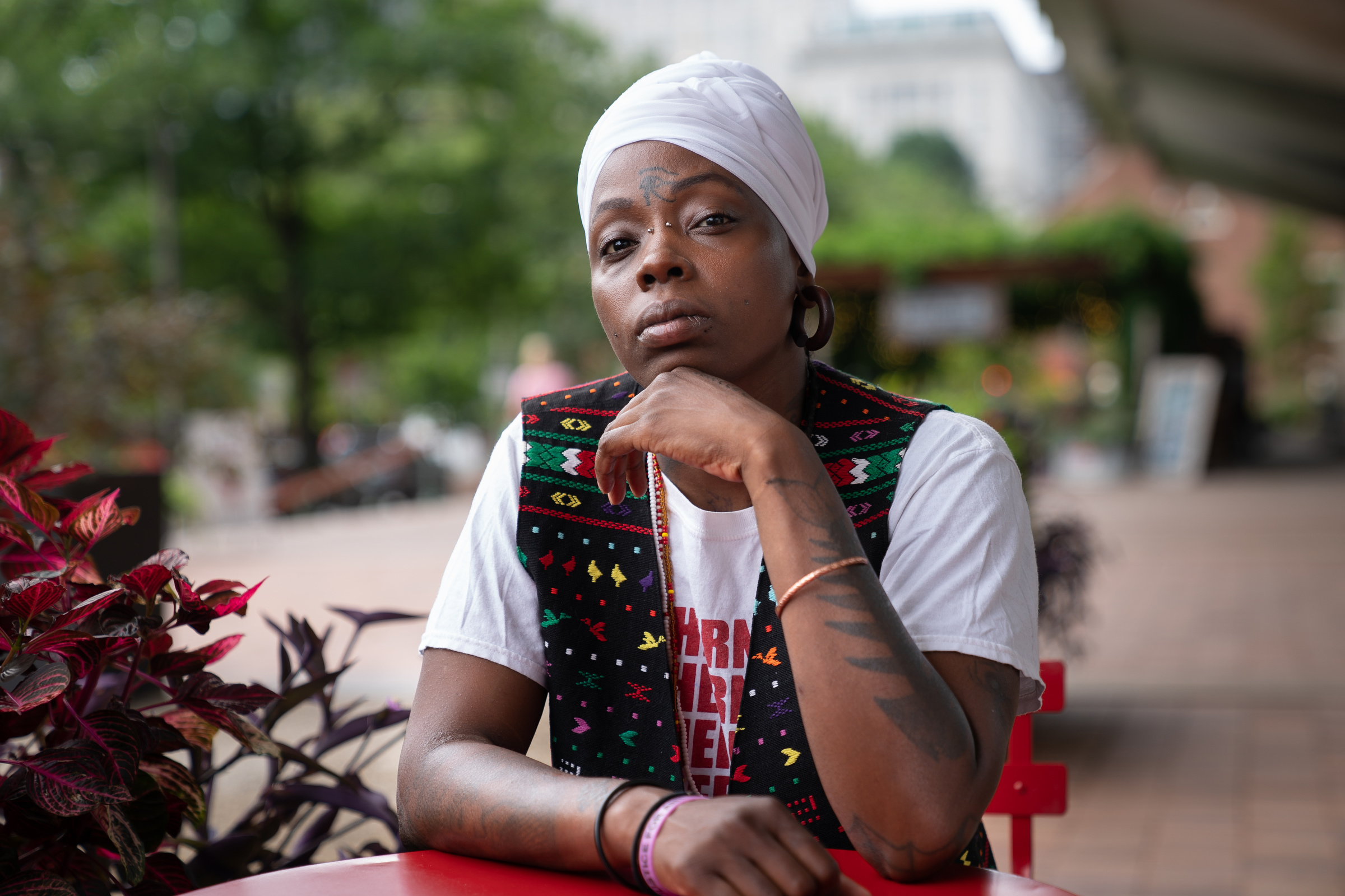 Melanie Carter will debut her show, Memoirs of an Activist on Aug. 25 at the African-American museum, she is shown here in Center City, Philadelphia, Tuesday, August 21, 2018. The one-woman show reflects on black womenÕs experiences on subjects ranging from feminism, hip-hop, police brutality, and mass incarceration.