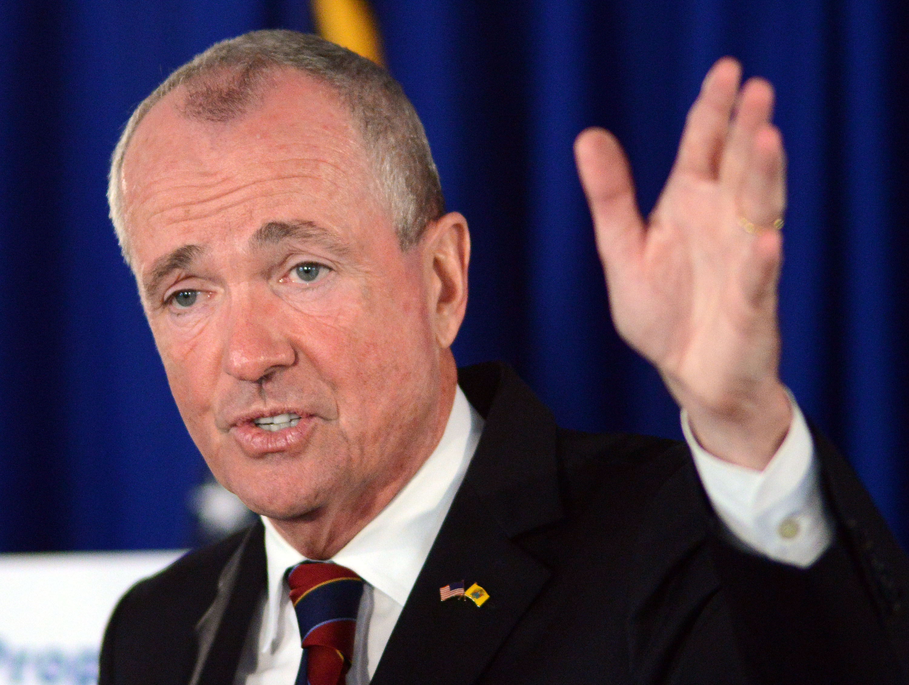 New Jersey Governor Phil Murphy speaks to the press June 18 in Trenton.