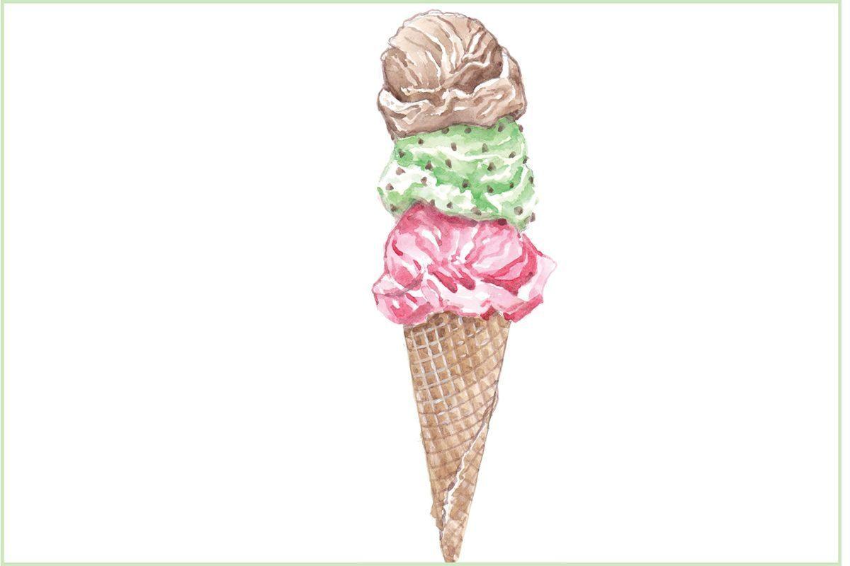 Ice Cream cone display art #submittedImage