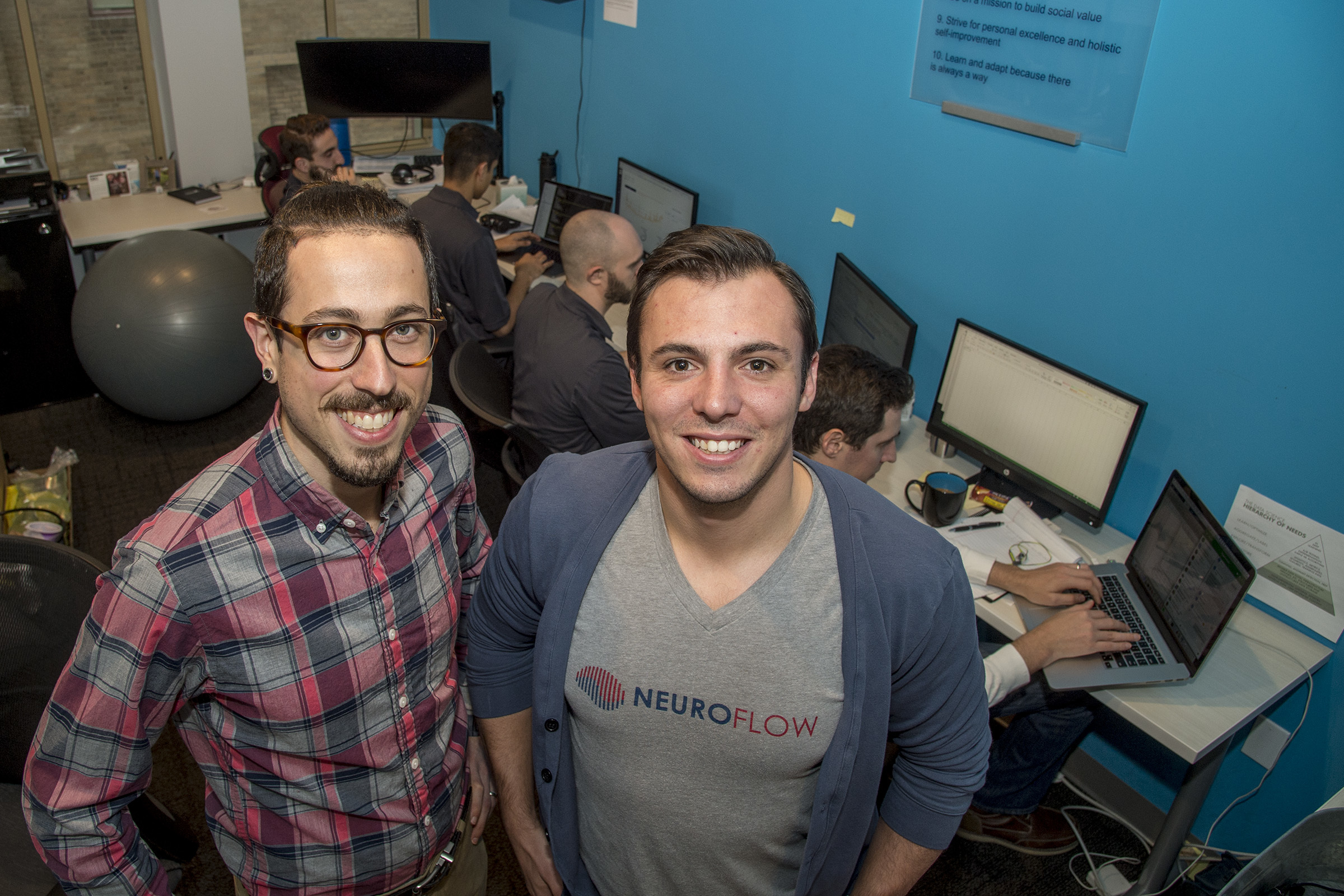NeuroFlow cofounders Adam Pardes (left) and Christopher Molaro were pursuing advanced degrees at the University of Pennsylvania when they founded the company in April 2016.