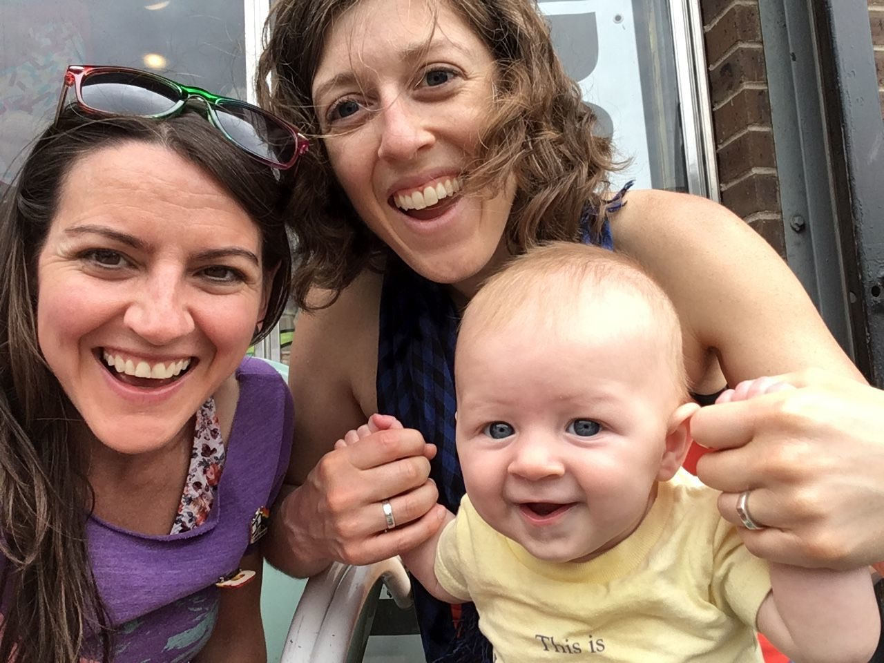 The Schneider family (left to right): Rachelle, Megan and son Avi. #submittedImage