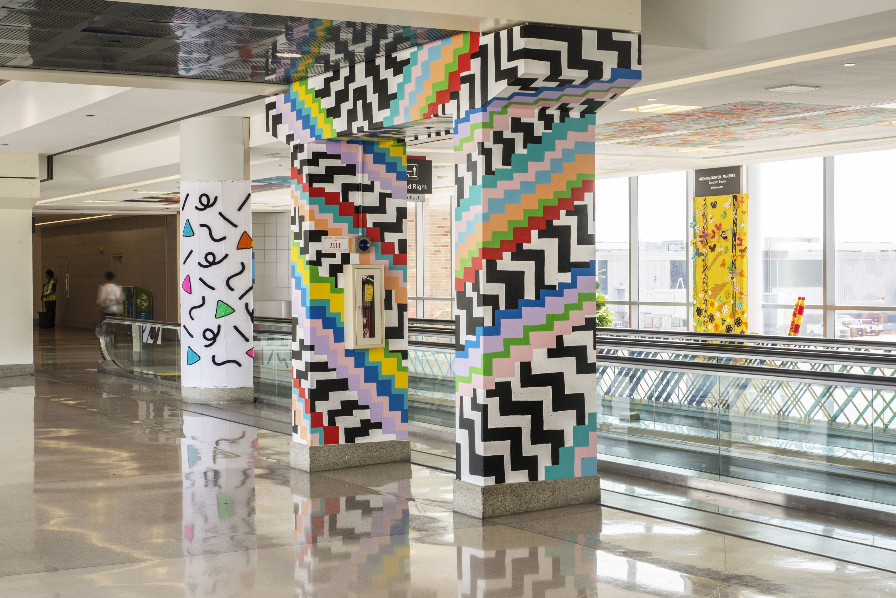 """It´s a Wrap: 20 for 20"" at Philadelphia International Airport."