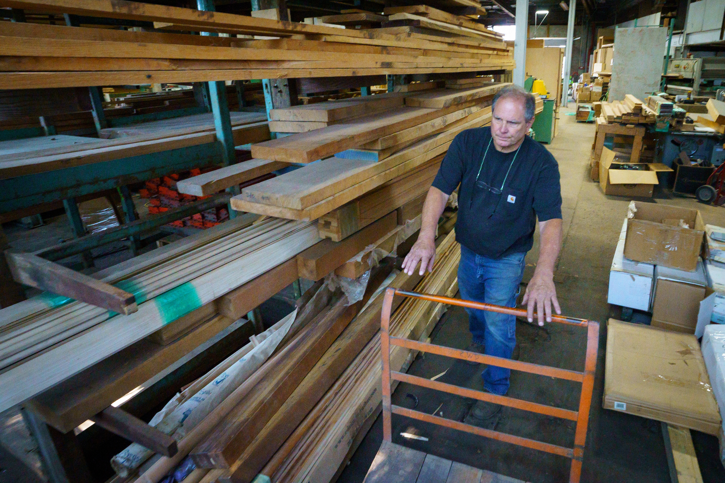 Victor Rossi, of Rossi Brother´s Cabinet makers, shown here at his new warehouse work space in Wissanoming.