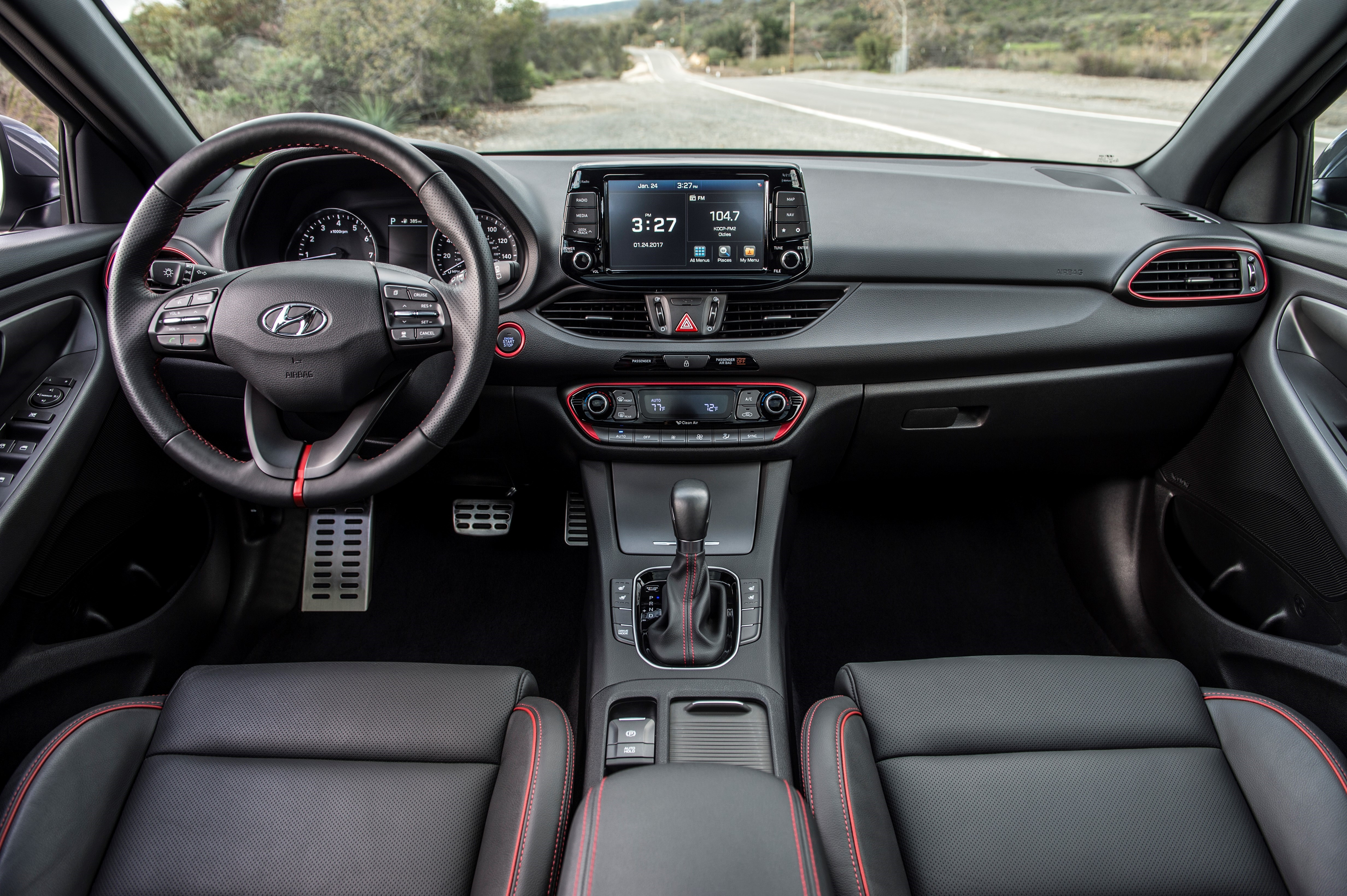Inside, the 2018 Hyundai Elantra GT offers comfortable seating in the front and intuitive controls. Rear-seat passengers aren't going to feel so pampered.