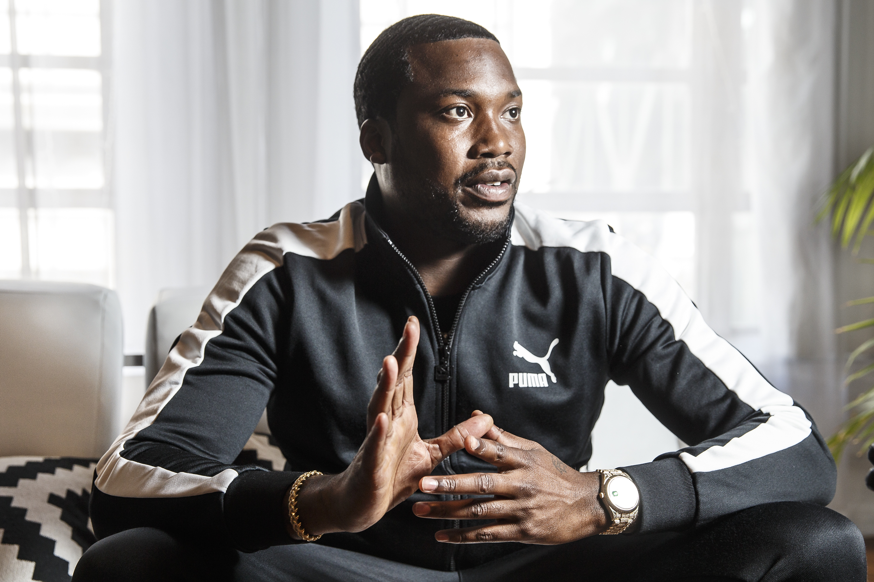 Philadelphia rap artist Meek Mill at the Power Plant Studio on August 1, 2018. MICHAEL BRYANT / Staff Photographer