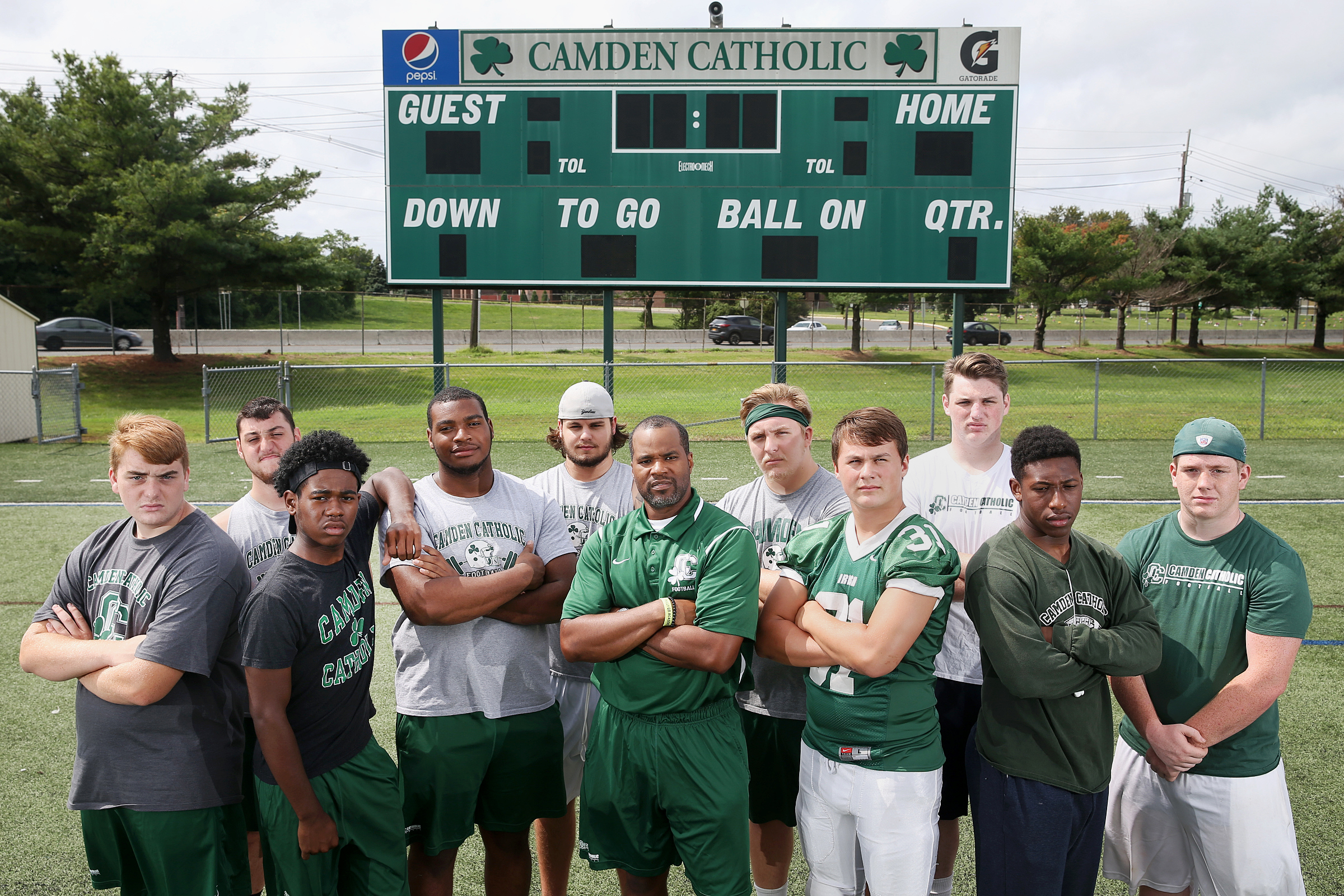 Ten seniors and new coach Cody Hall have been tasked with starting a new era for Camden Catholic football.