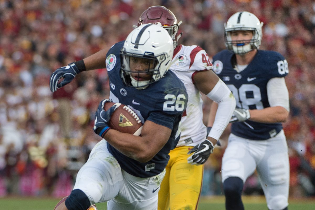 Penn State running back Saquon Barkley is on the preseason watch list for the Maxwell Award, given to college football's best player.