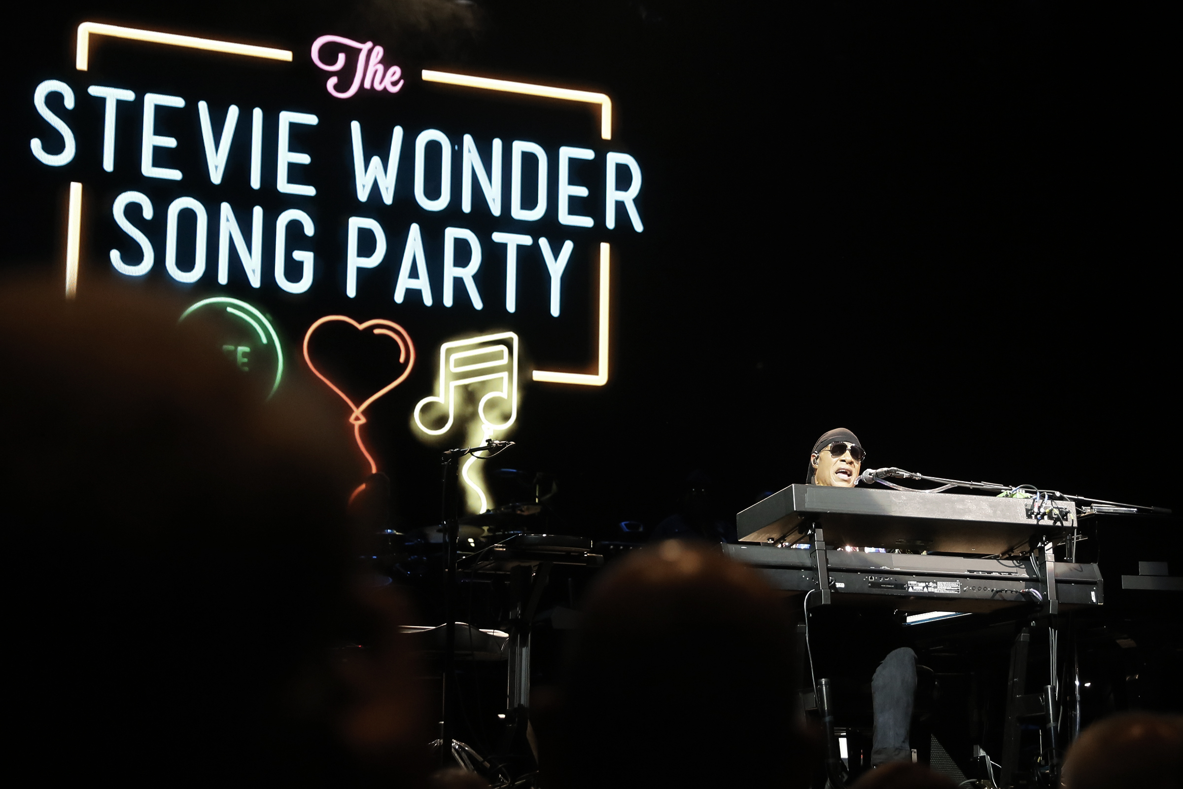 """Stevie Wonder performs during his """"Song Party"""" tour stop at the Borgata´s Casino in Atlantic City, NJ on Aug. 25, 2018. ELIZABETH ROBERTSON / Staff Photographer"""