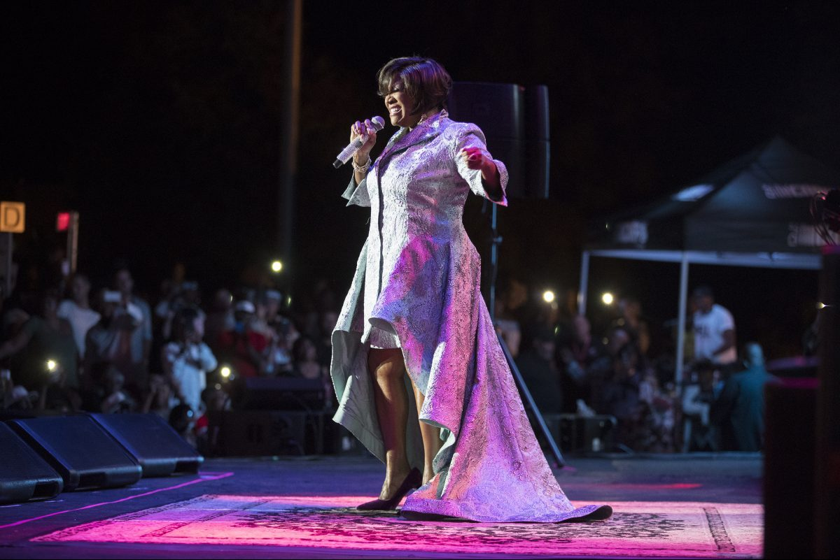 Patti Labelle performs at the Dell Center on August 23, 2018. CHARLES FOX / Staff Photographer