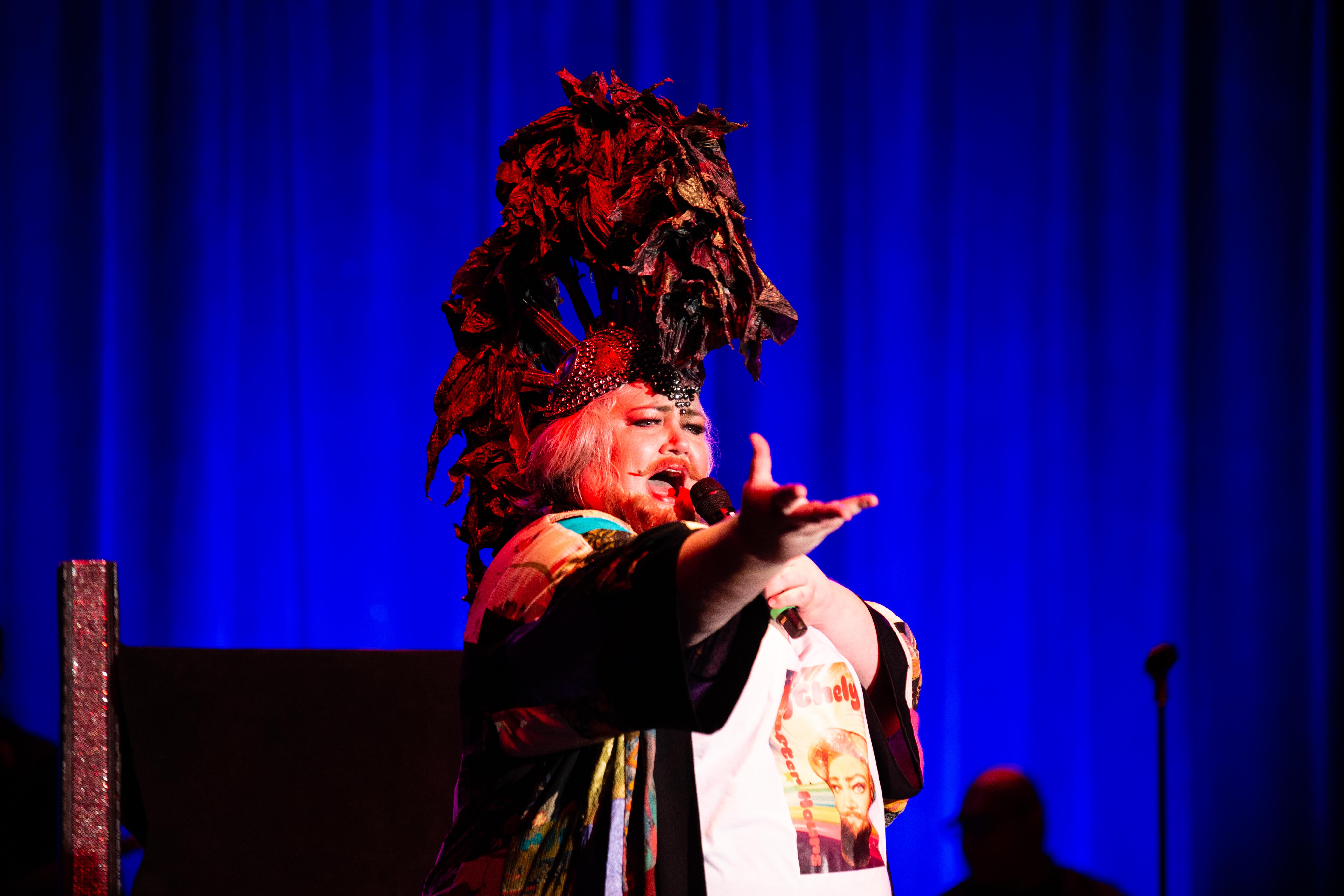 For the second year in a row, mezzo-soprano Stephanie Blythe took on a drag persona - Blythely Oratonio - as part of Opera Philadelphia´s annual opera festival.