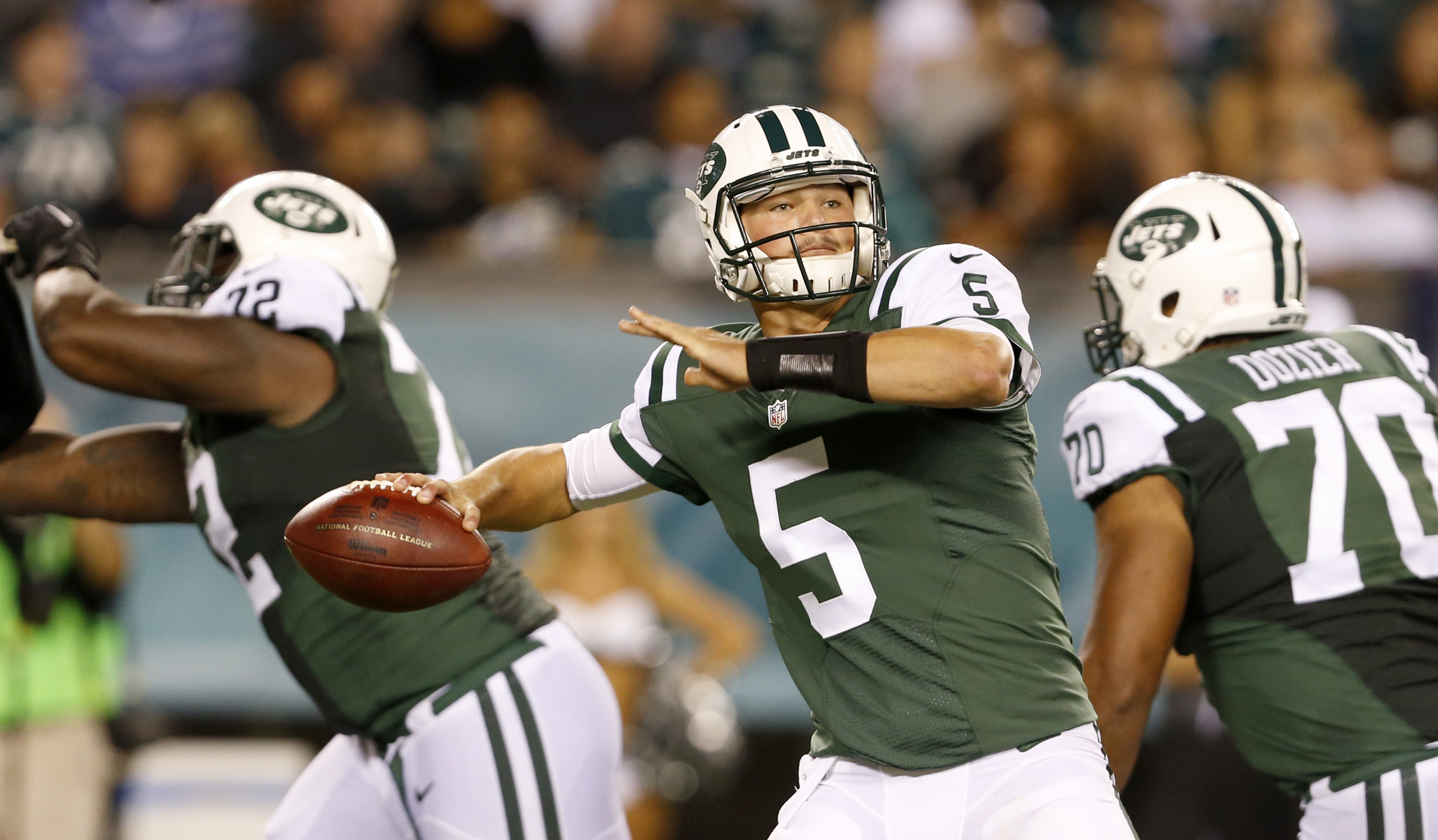 Christian Hackenberg hoped the chance to play in a real, live NFL game would come with the Jets, the team that drafted him, but it didn�t.