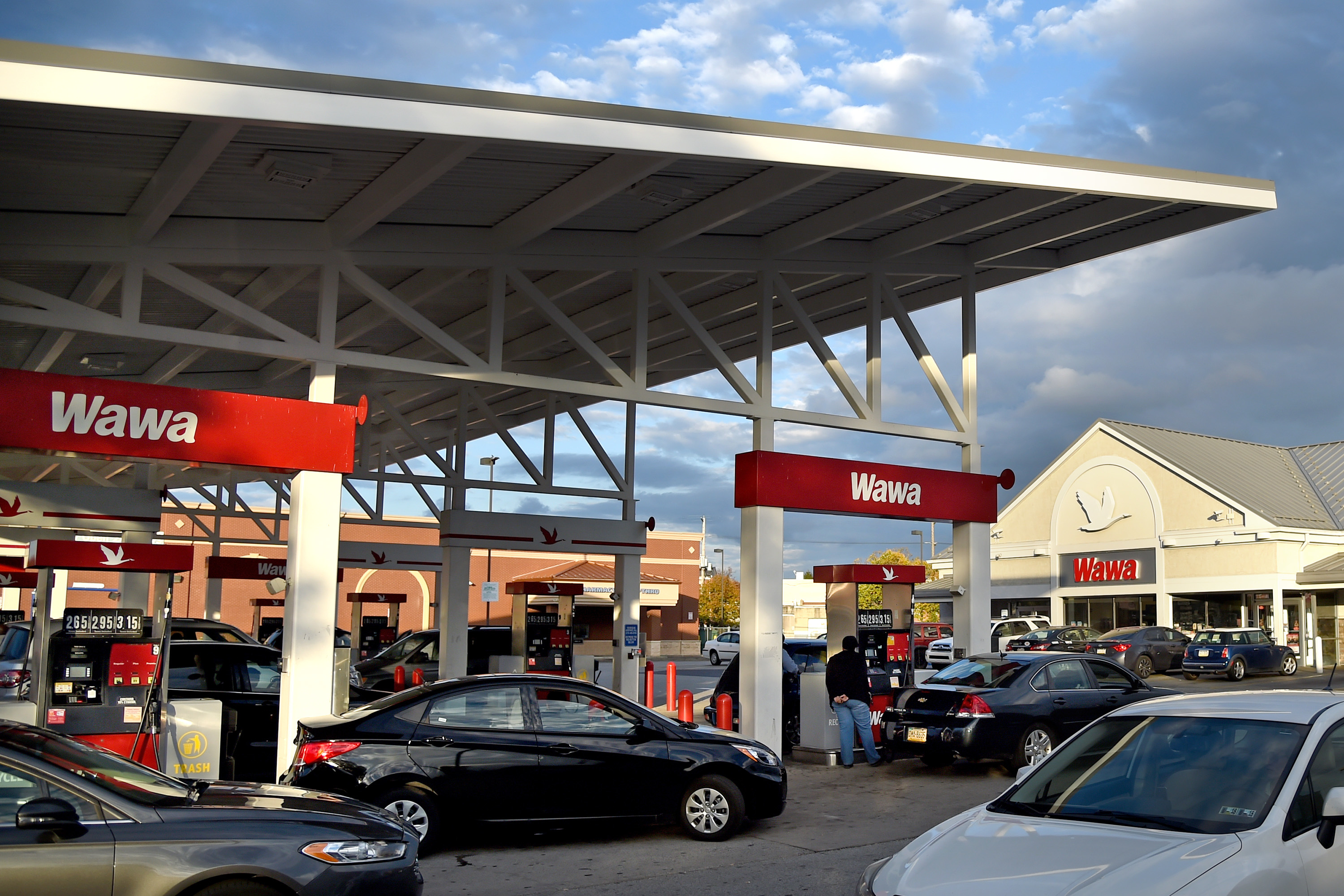 A super-sized Wawa convenience store and gas station combo at 2535 Aramingo Ave.