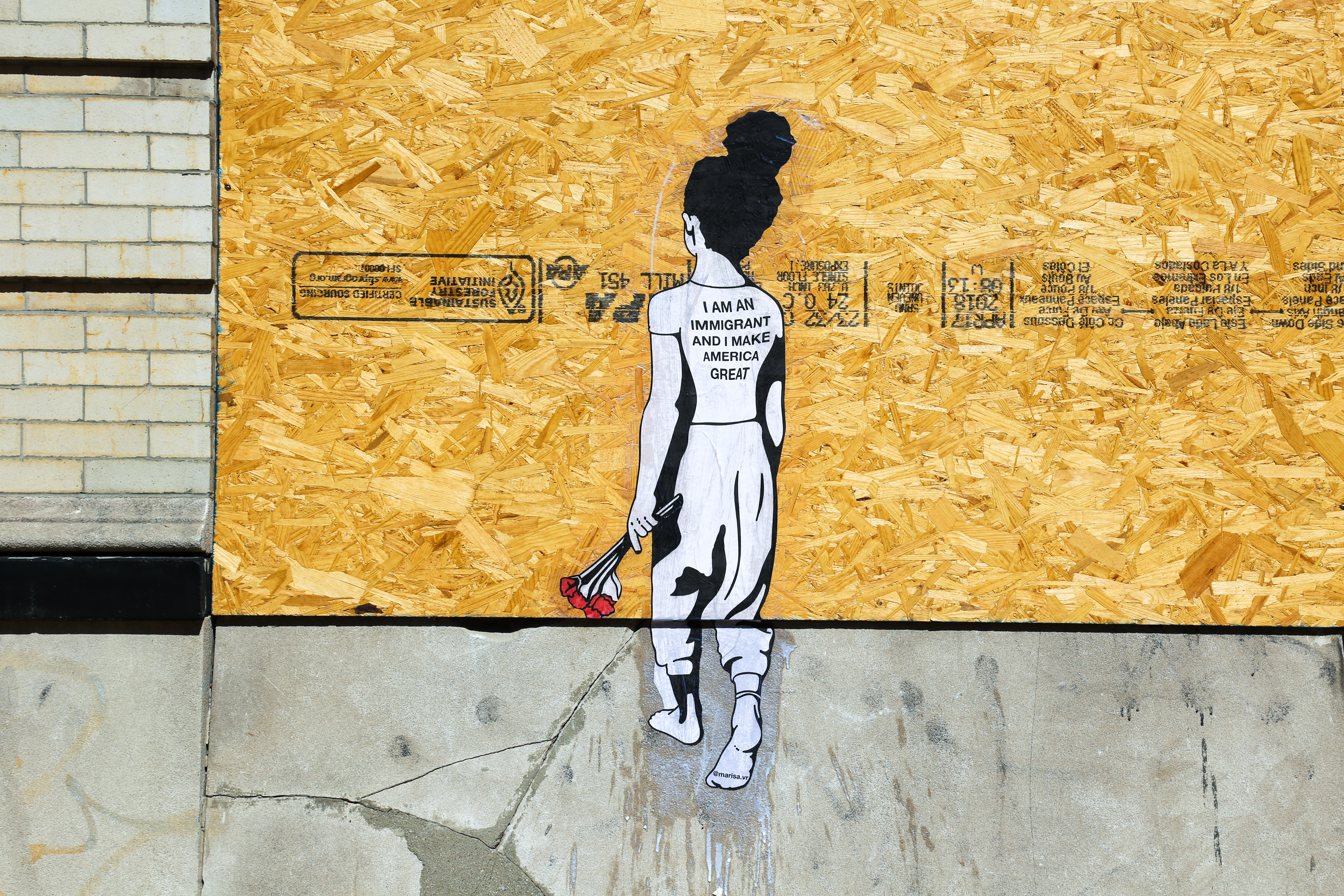 To the Polls is set to feature 10 local artists, including Marisa Velázquez-Rivas, whose wheat paste is pictured here. Curator Conrad Benner set out to find participants who were already producing works that encourage civic engagement and/or express political activism.