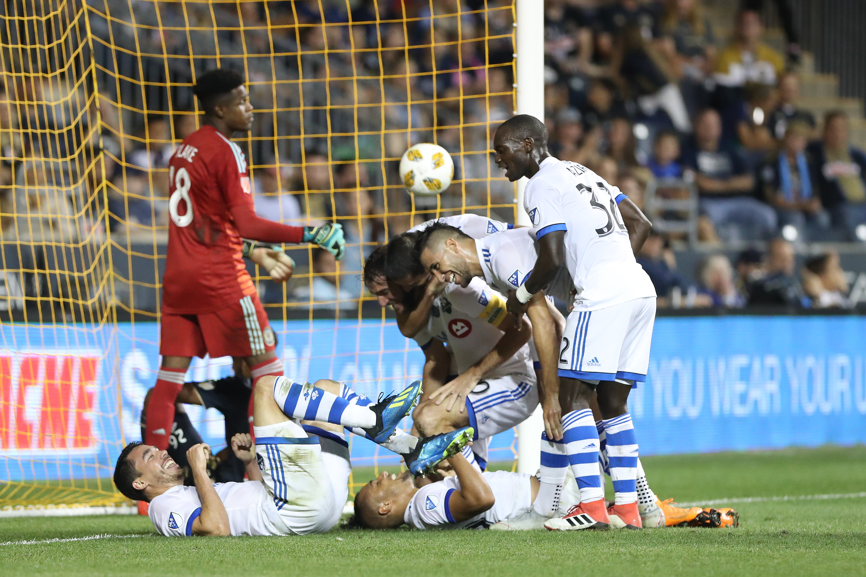 Andre Blake could only look on as Quincy Amarikwa scored the goal that sealed the Union�s fate.