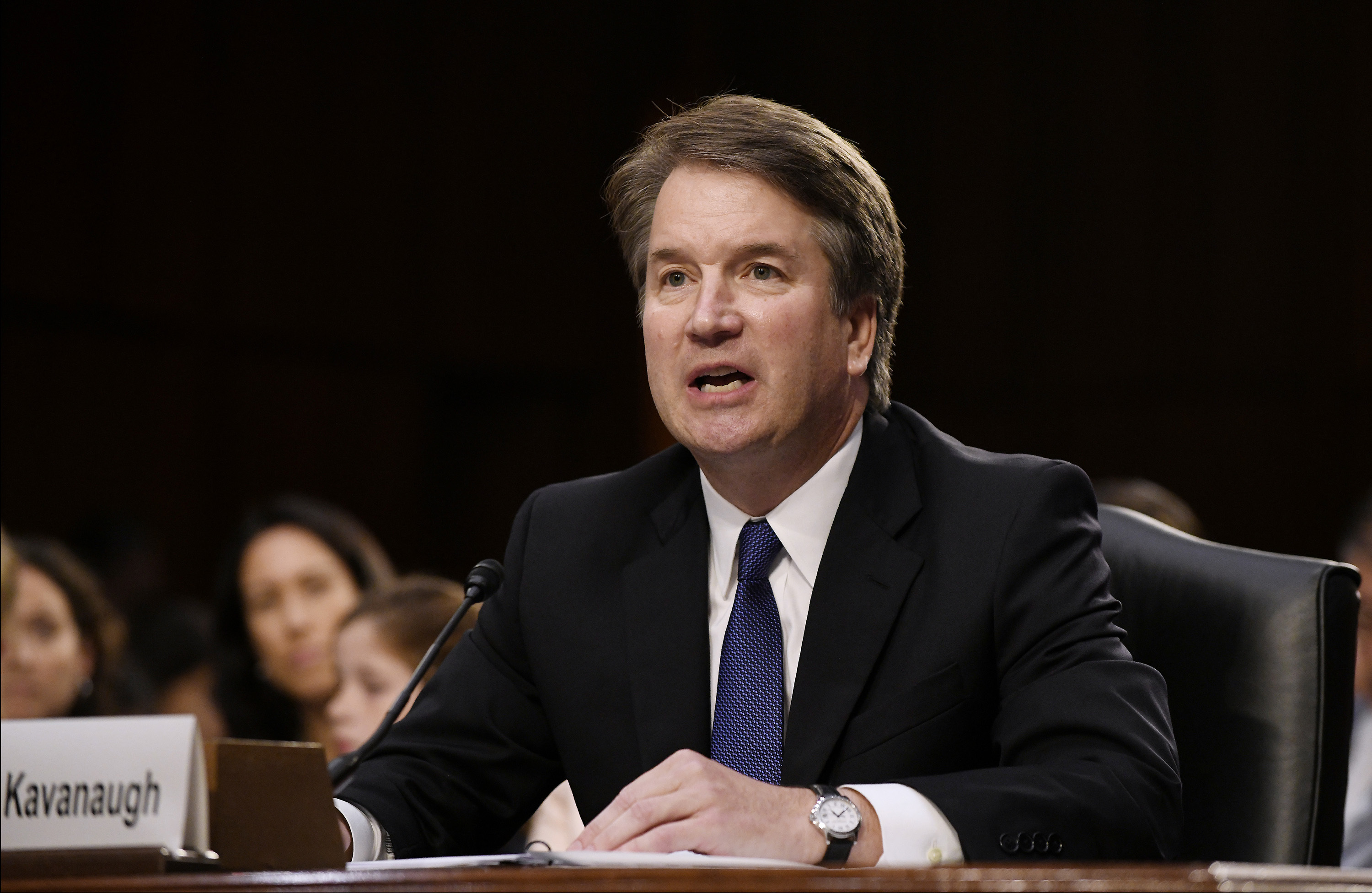 Supreme Court nominee Brett Kavanaugh testifies at his confirmation hearing in the Senate Judiciary Committee on Capitol Hill Sept. 4, 2018 in Washington, D.C.