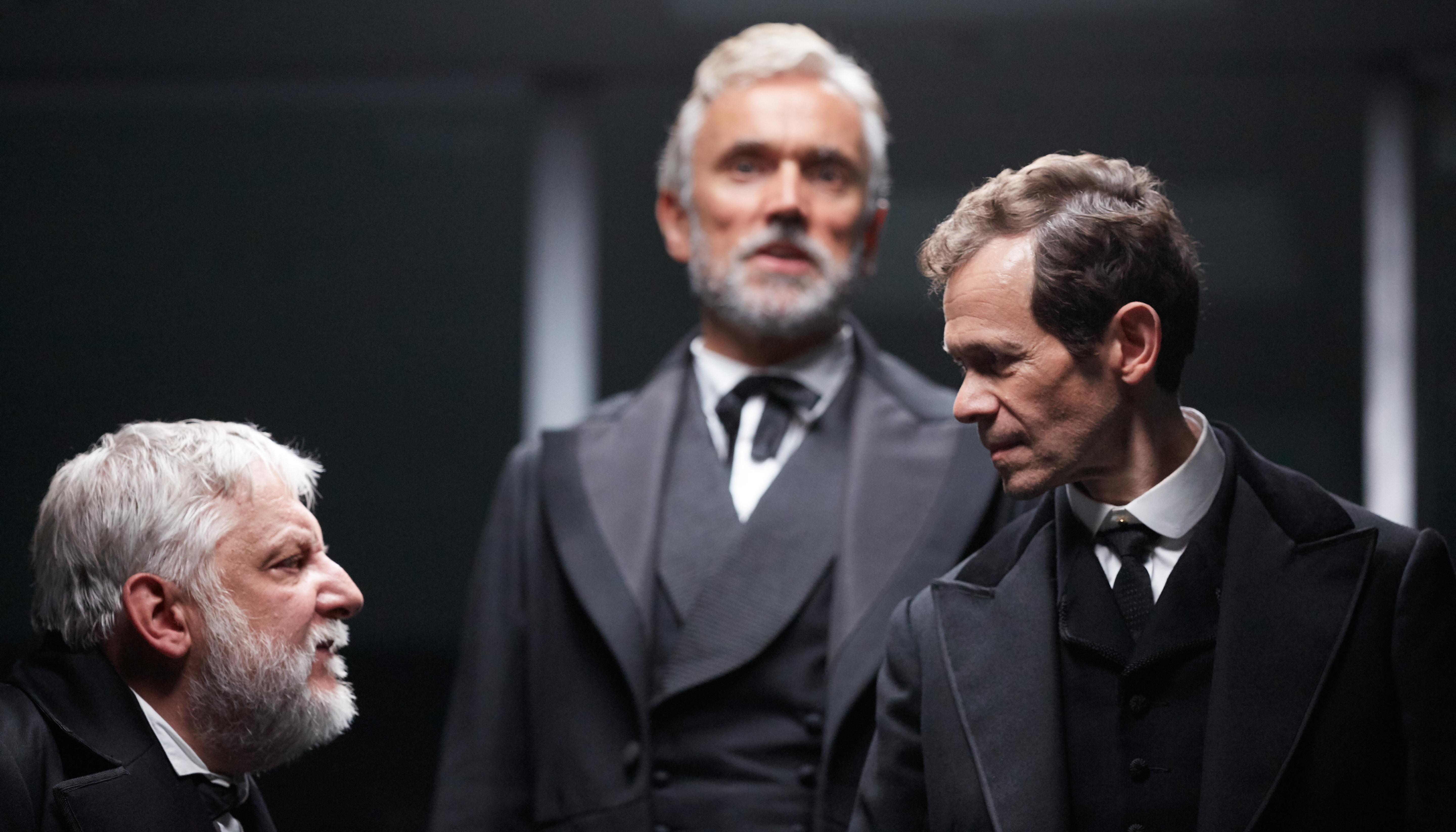 Simon Russell Beale, Ben Miles and Adam Godley in The Lehman Trilogy at the National Theatre