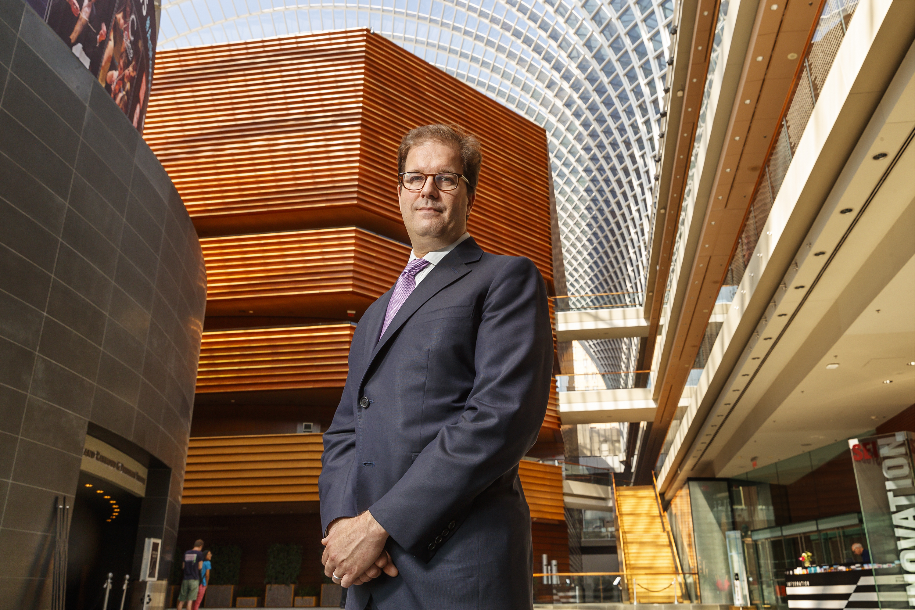 New Philadelphia Orchestra CEO Matias Tarnopolsky at the Kimmel Center. MICHAEL BRYANT / Staff Photographer