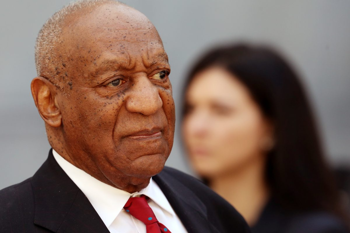 Comedian and actor Bill Cosby leaves Montgomery County Courthouse after his conviction in April on three counts of aggravated indecent assault.