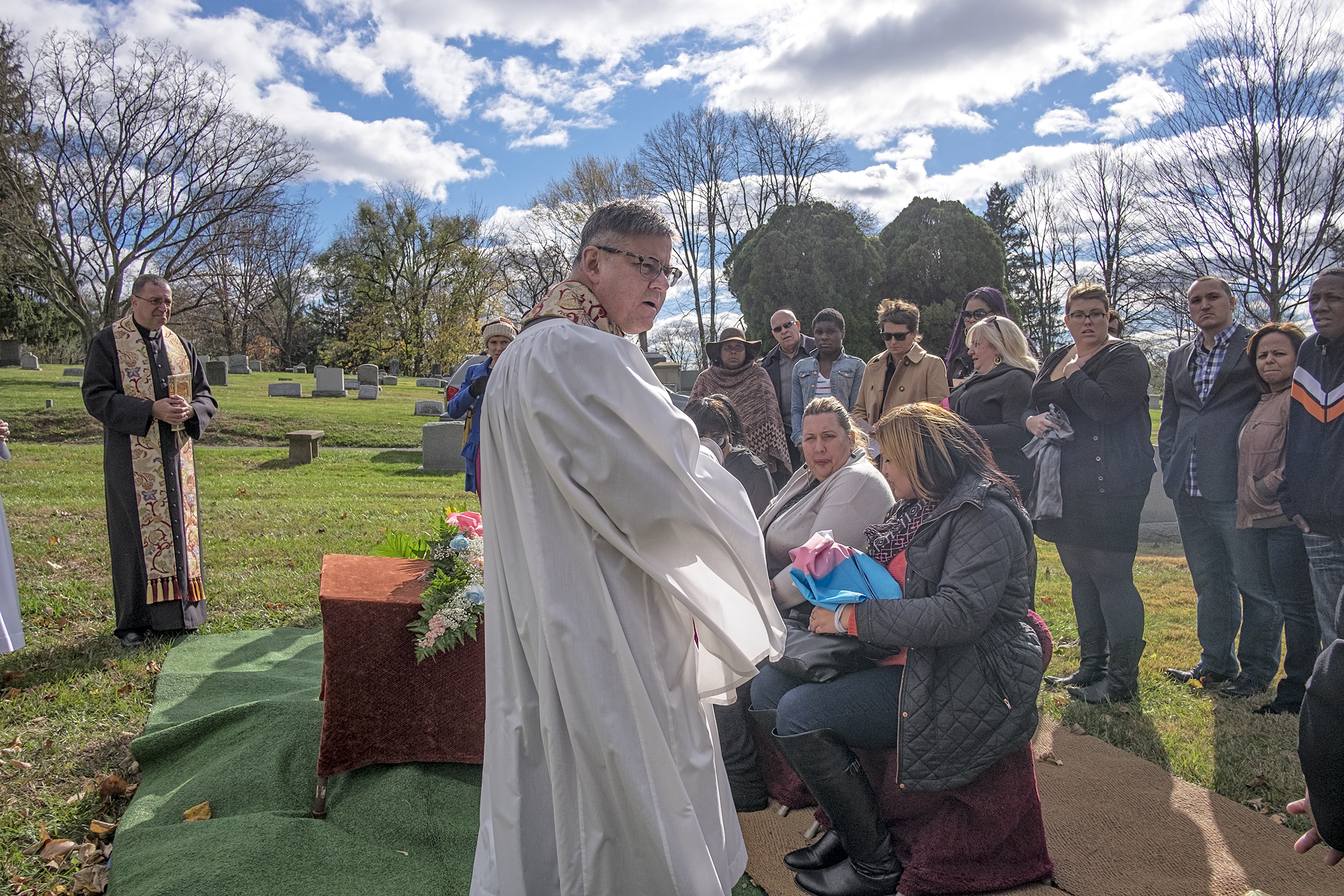 A small group of mourners met in November 2015 at the St. Miriam Cathedral in Flourtown to pay their final respects and lay to lay to rest Diamond Williams, a transgender woman murdered in 2013.