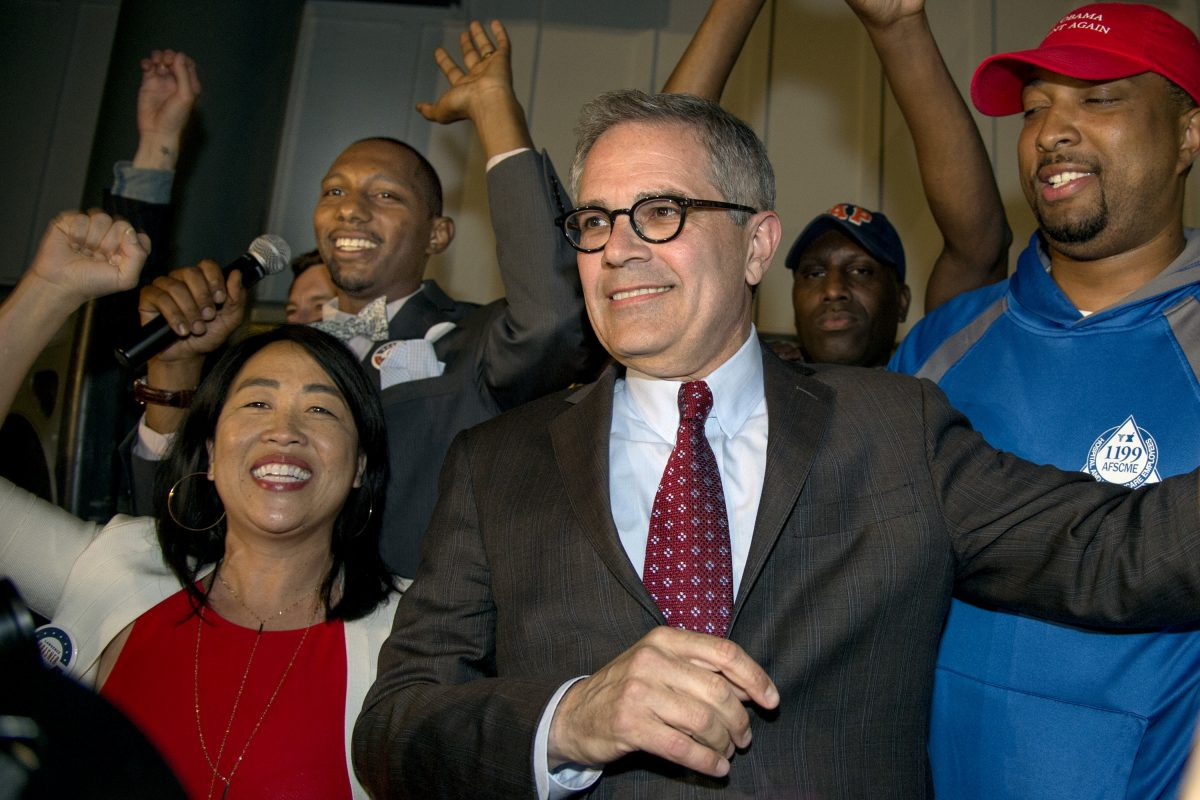 Larry Krasner's primary win virtually assures him victory in the fall in a largely Democratic town.