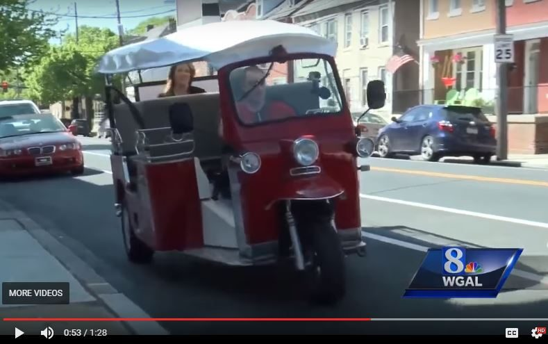 The Pennsylvania PUC has rejected the application of an entrepreneur to operate a three-wheeled TukTuk vehicle for tourists in Lancaster.