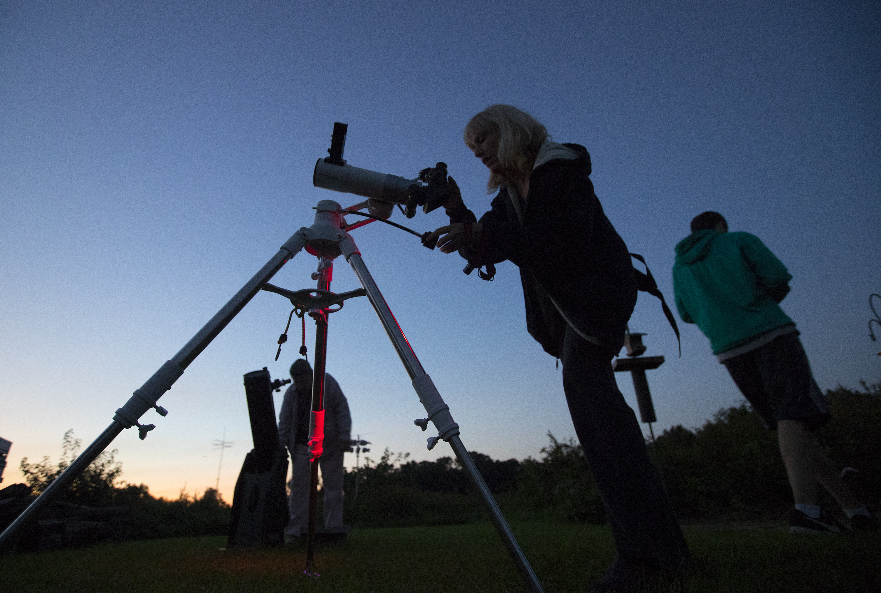 A stargazing event with the Chester County Astronomical Society at the Bucktoe Creek Preserve in Avondale, PA on Sept. 29, 2018. Clouds moved in to cause an early end to the evening.