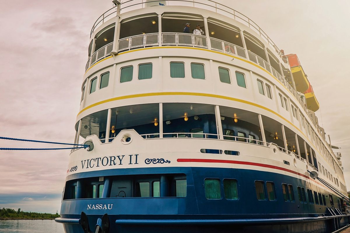 Miami-based Victory Cruise Lines, with its ships Victory I and Victory II plans some stops in Duluth, Minn., by next summer. They are 300-foot vessels, holding about 200 passengers and more than 80 crew members.