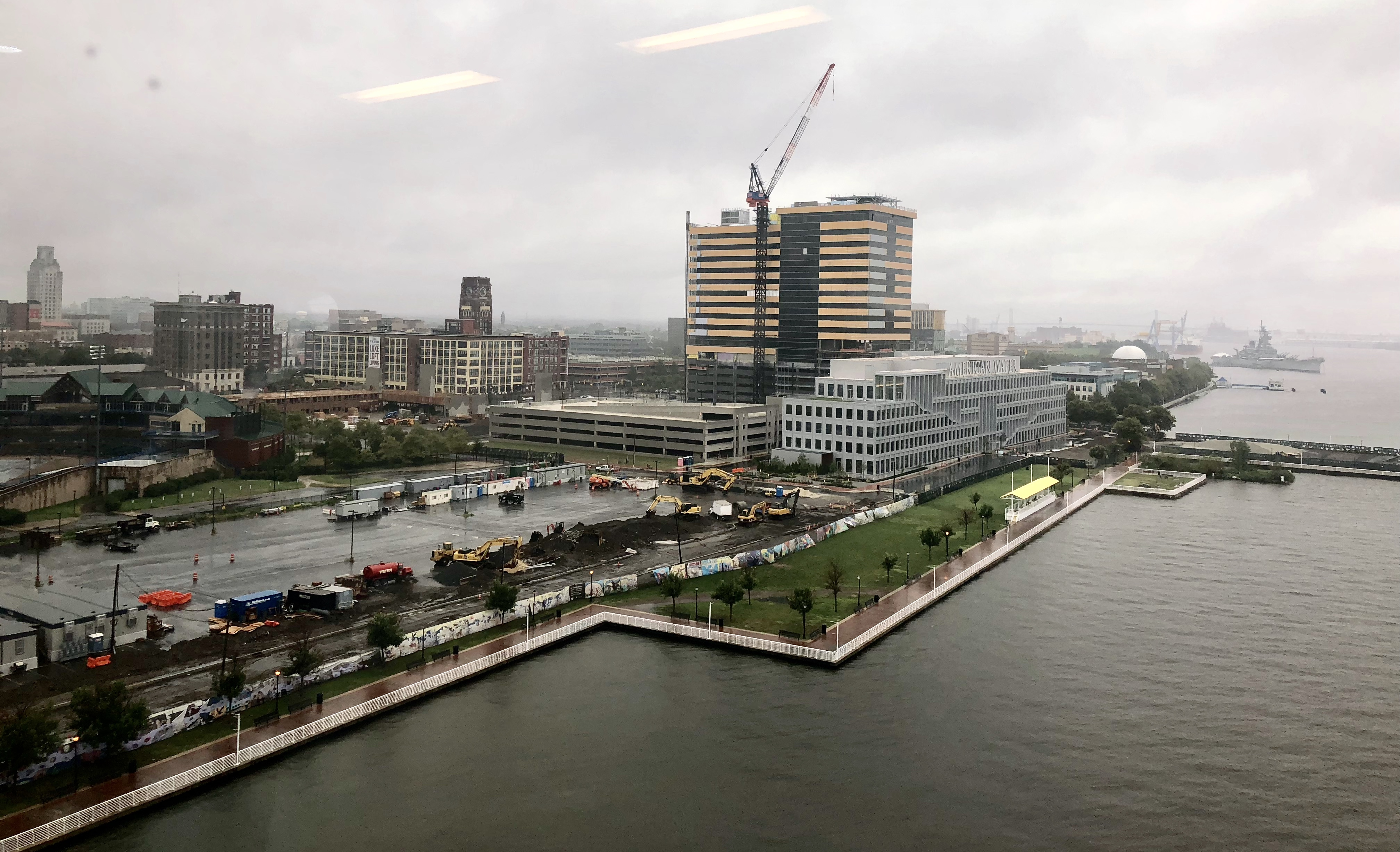 Projects on Camden´s Waterfront subsidized by state tax incentives include the low-rise American Water´s corporate headquarters and the high-rise that will house offices for companies including Conner Strong & Buckelew.