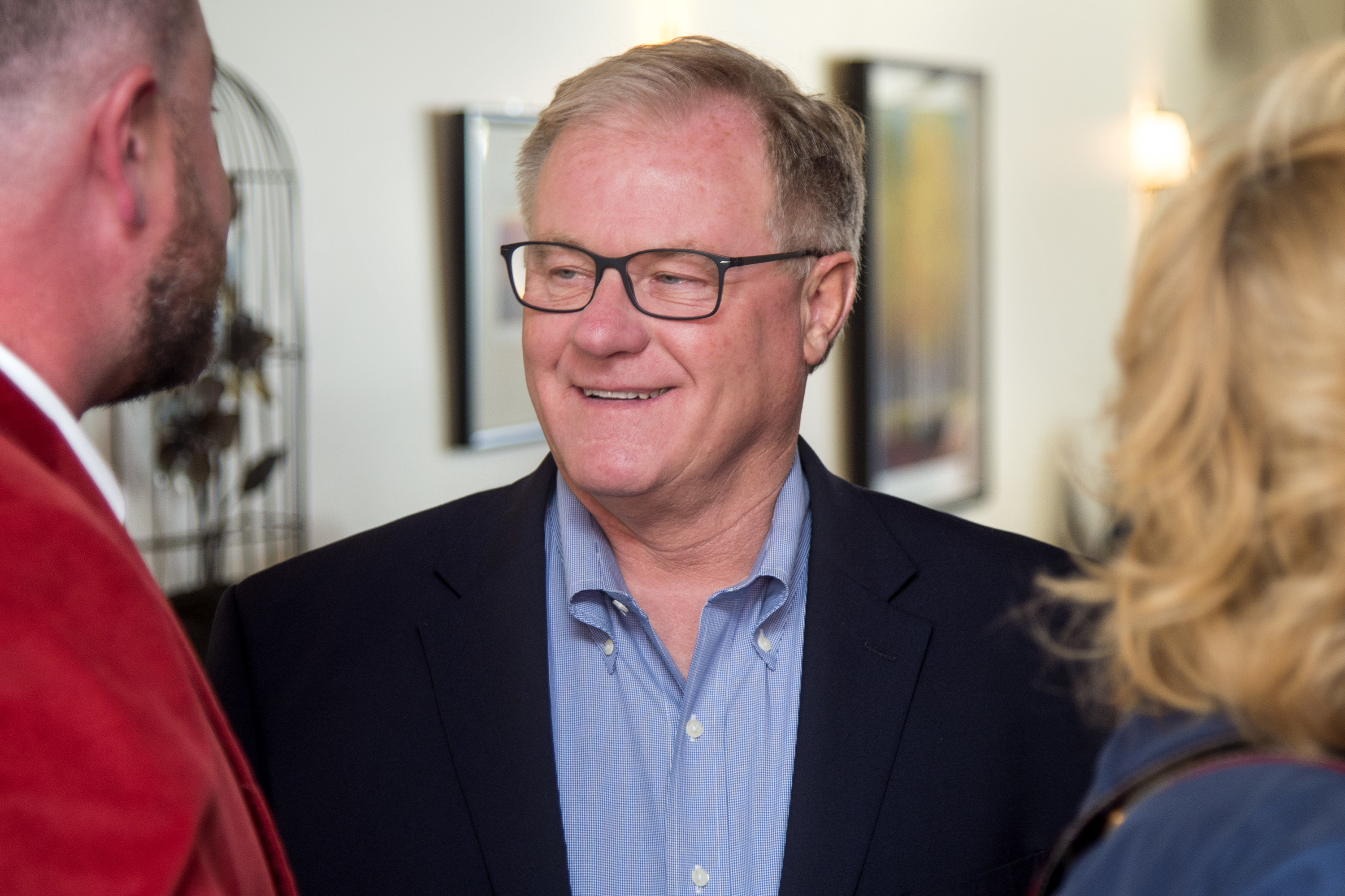 Republican nominee Scott Wagner, pictured in April, is pitching himself to voters as a self-made businessman.
