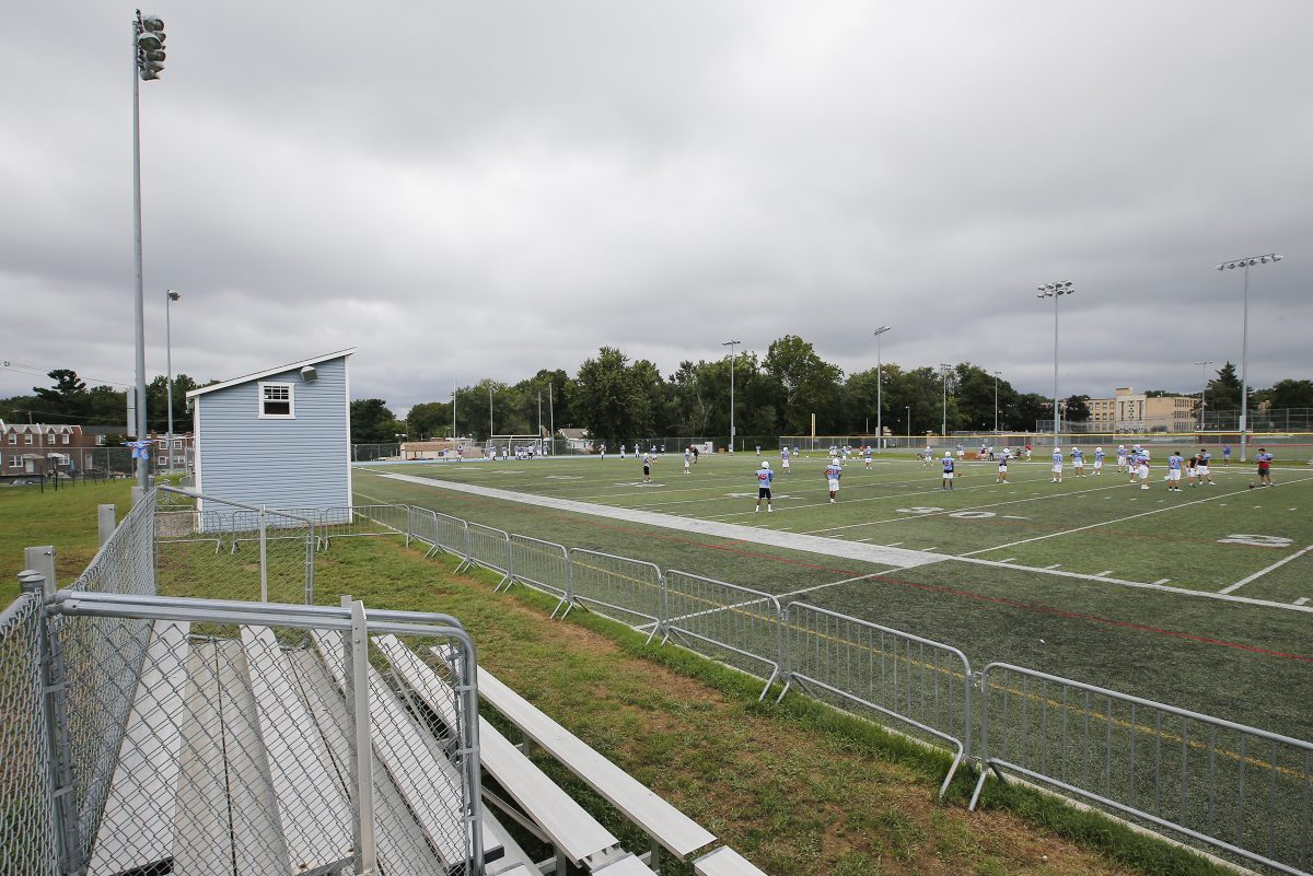 Father Judge is playing varsity football games this season at James J. Ramp Athletic Complex.