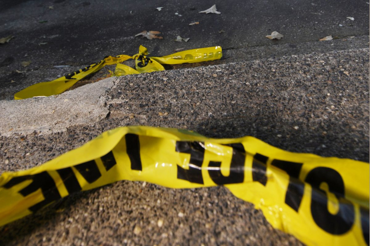 Three guns were found at the scene of Sunday's fatal shooting in the 200 block of South 57th Street in West Philadelphia.