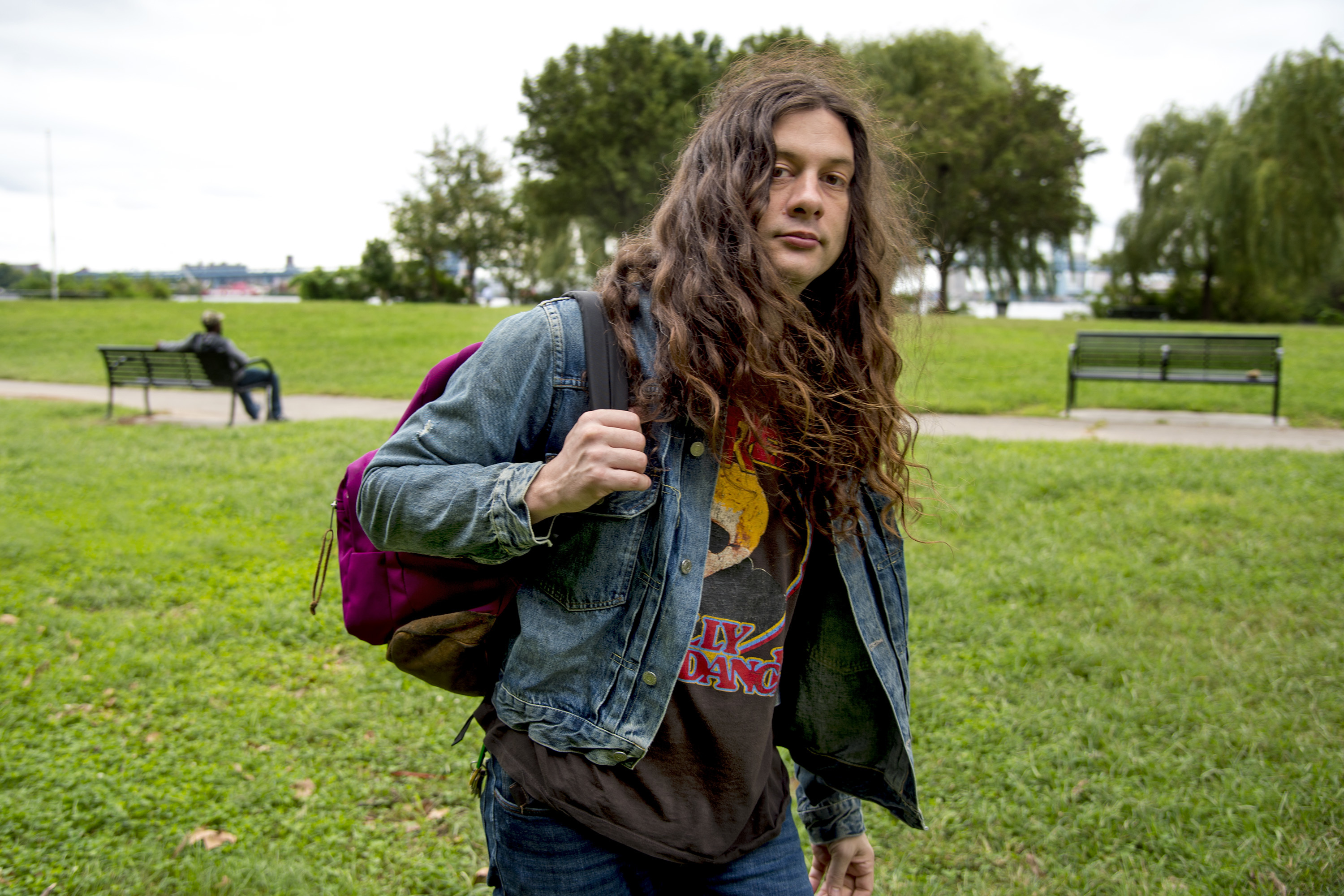Philadelphia songwriter and guitarist Kurt Vile is photographed in Penn Treaty Park September 20, 2018. He has his first new record in three years, Bottle It In, coming out in October. TOM GRALISH / Staff Photographer