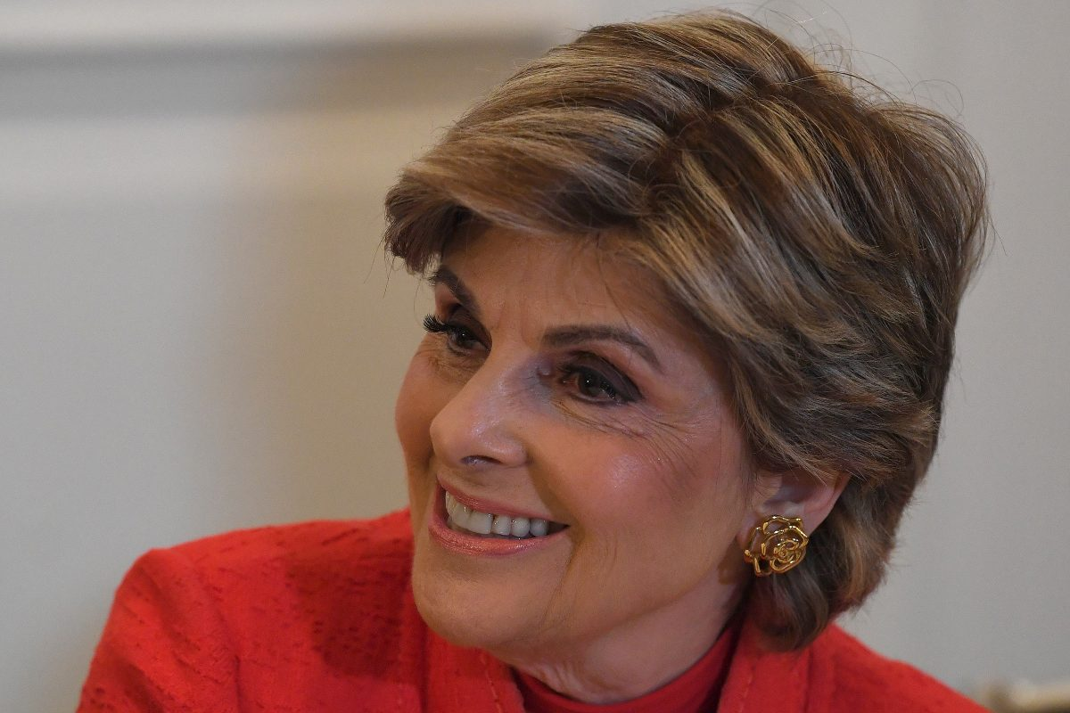 Attorney Gloria Allred talks to reporters during a news conference at Le Meridien Philadelphia on Sunday, Sept. 23, 2018.
