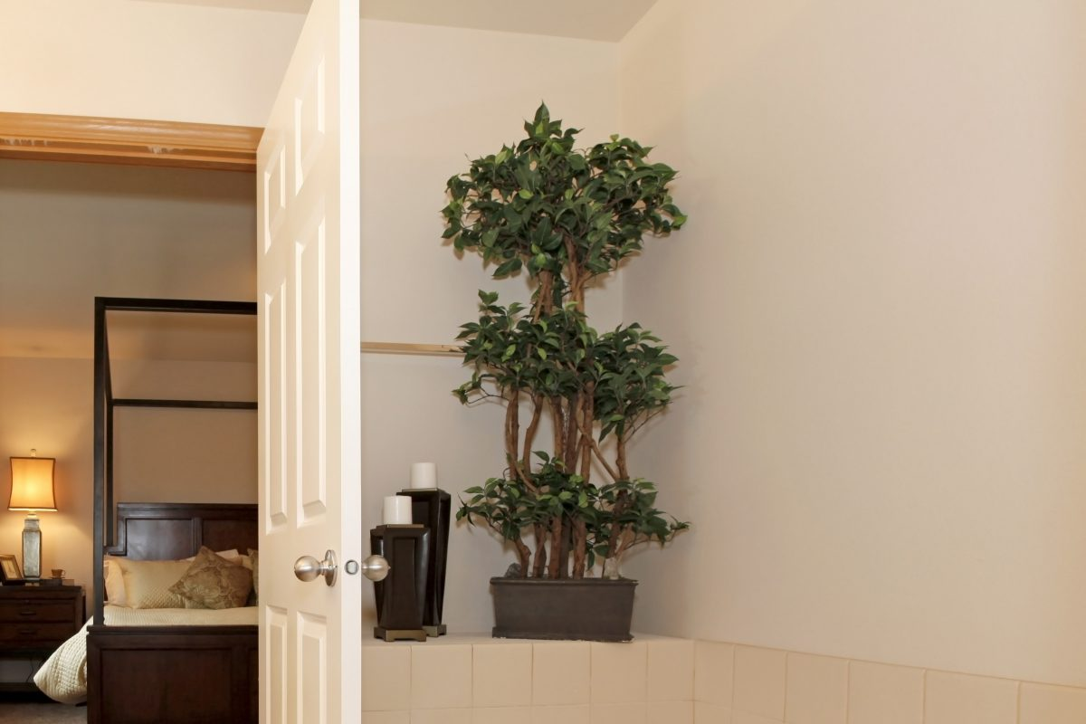 Fake plants can be incorporated into your home design to get the look you want.