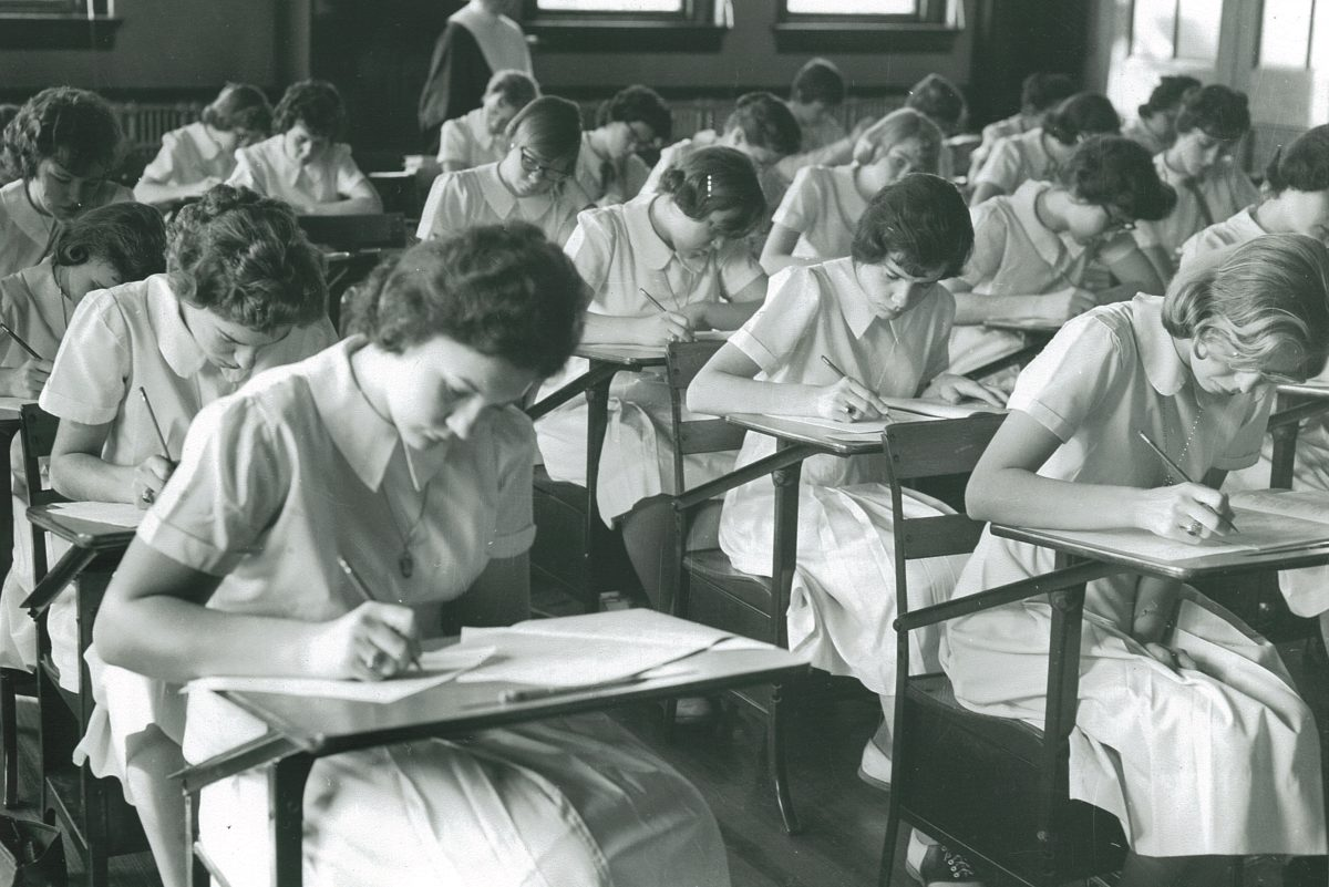 High school students in 1960 take the Project Talent test.