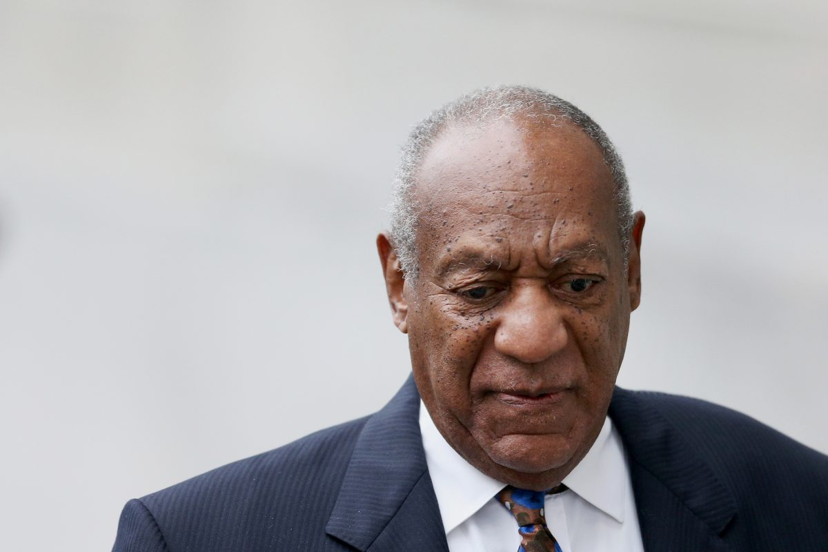 Bill Cosby arrives for sentencing in his sexual assault trial at the Montgomery County Courthouse in Norristown on Monday.