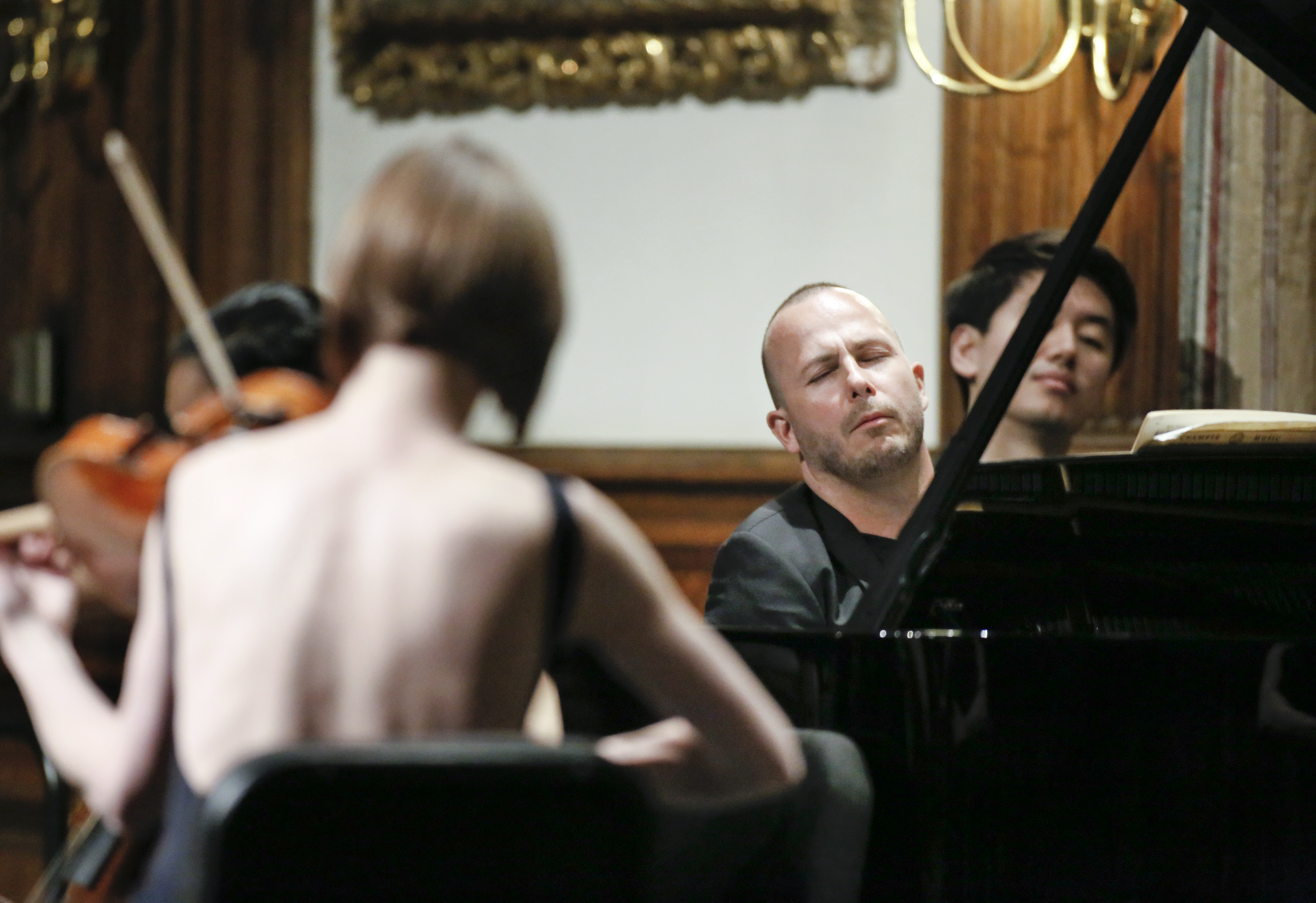 Yannick Nezet-Seguin playing Brahms with musicians from the Philadelphia Orchestra last season.