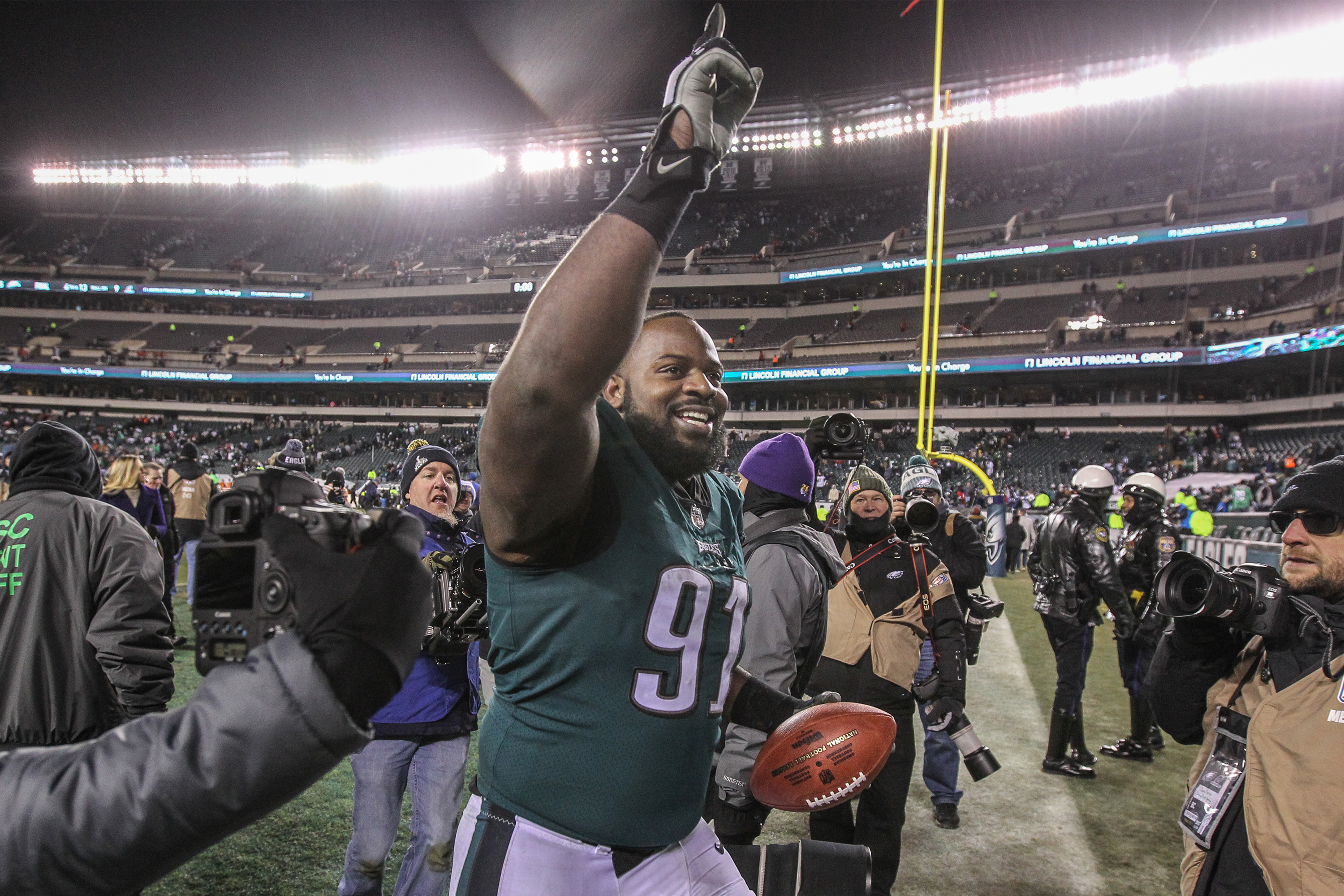 Fletcher Cox is the mainstay on the inside of the Eagles� defensive line.
