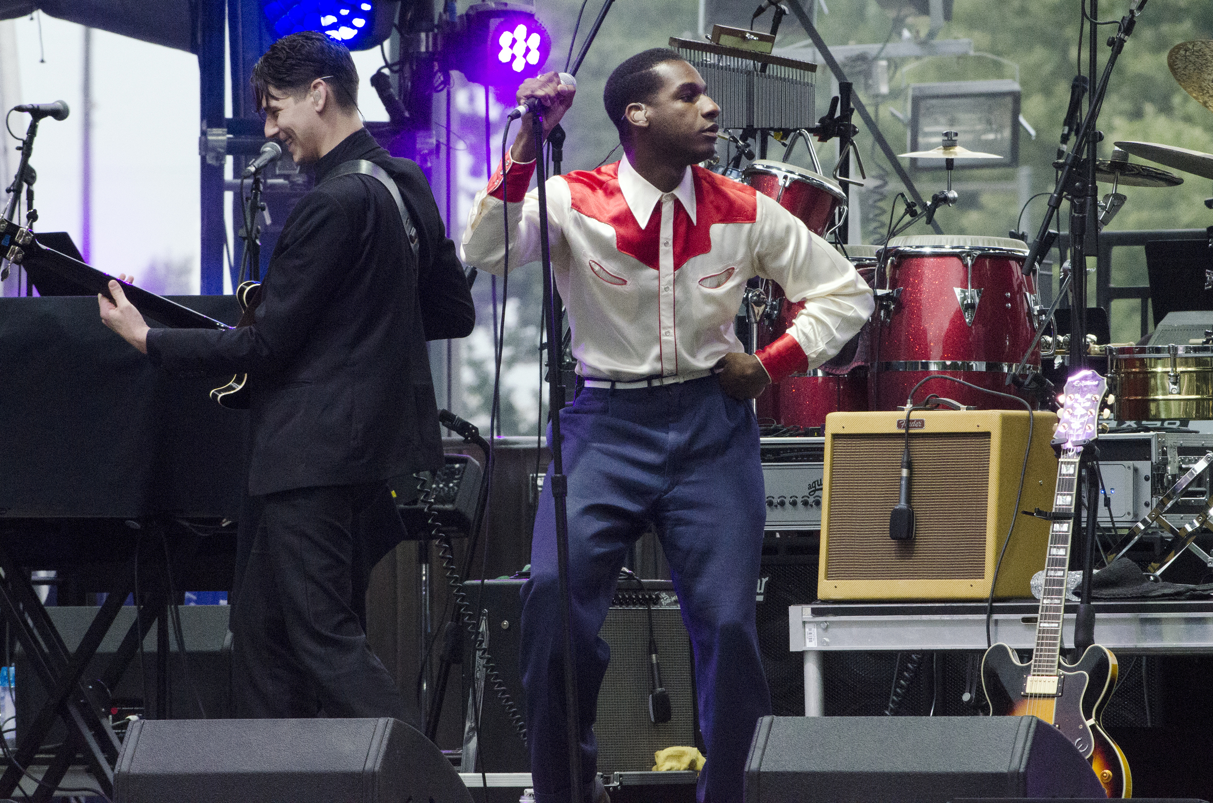 """Leon Bridges, the soul-singer named by """"Rolling Stone"""" as one of the """"10 New Artists You Need to Know,"""" performs at the Wawa Welcome America concert on the Ben Franklin Parkway on Monday, July 4th, 2016."""
