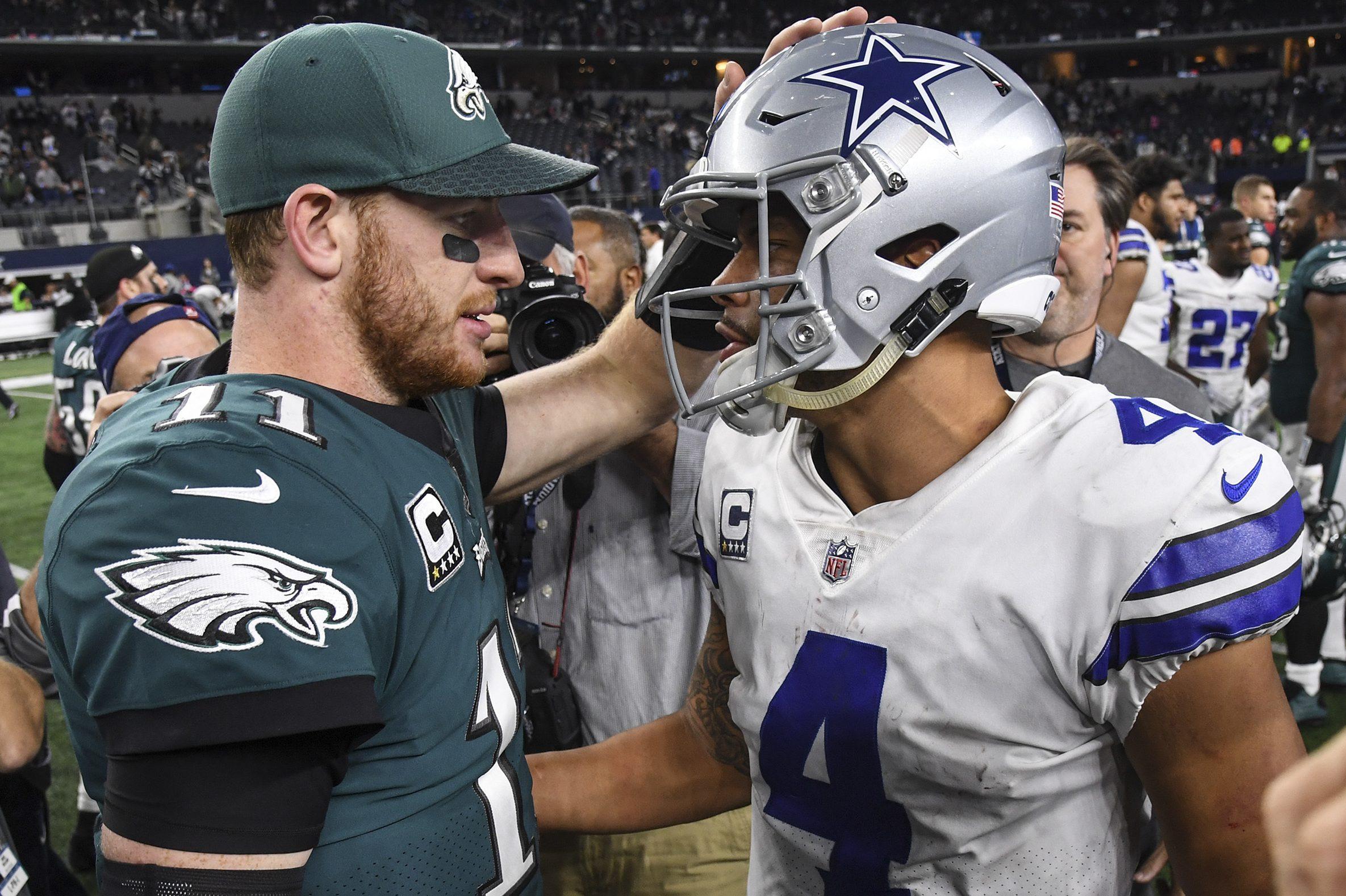 Carson Wentz and Dak Prescott are part of a new wave of quarterbacks big enough to evade defenders.