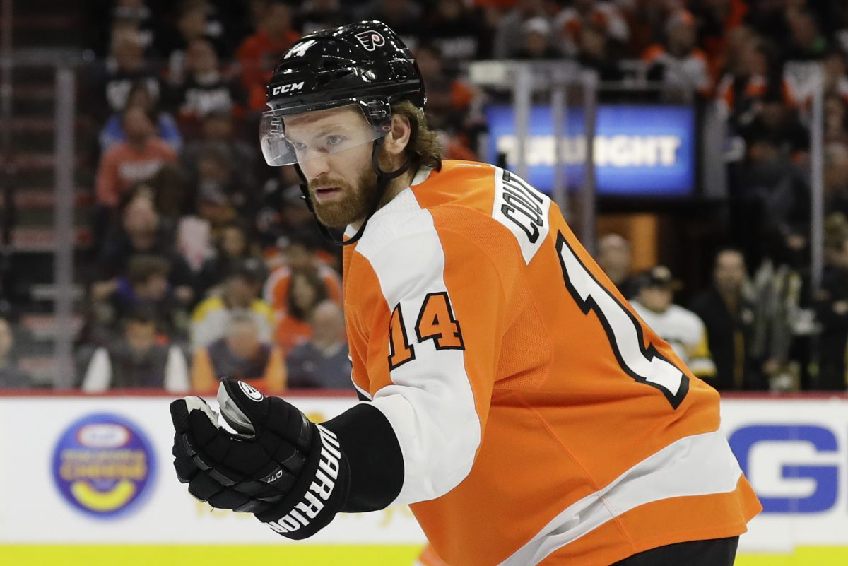 Sean Couturier practiced on Thursday for the first time in nearly a week.
