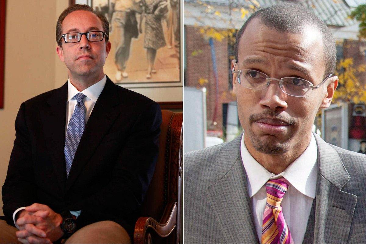 David Shulick (left) hired Chaka Fattah Jr. (right) in 2009.