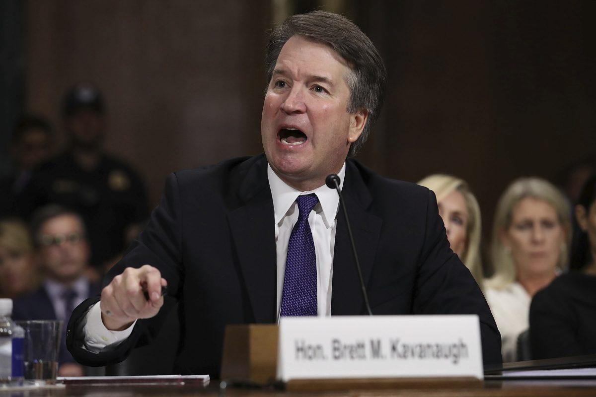 Supreme Court nominee Brett Kavanaugh testifies before the Senate Judiciary Committee on Capitol Hill in Washington, Thursday, Sept. 27, 2018. (