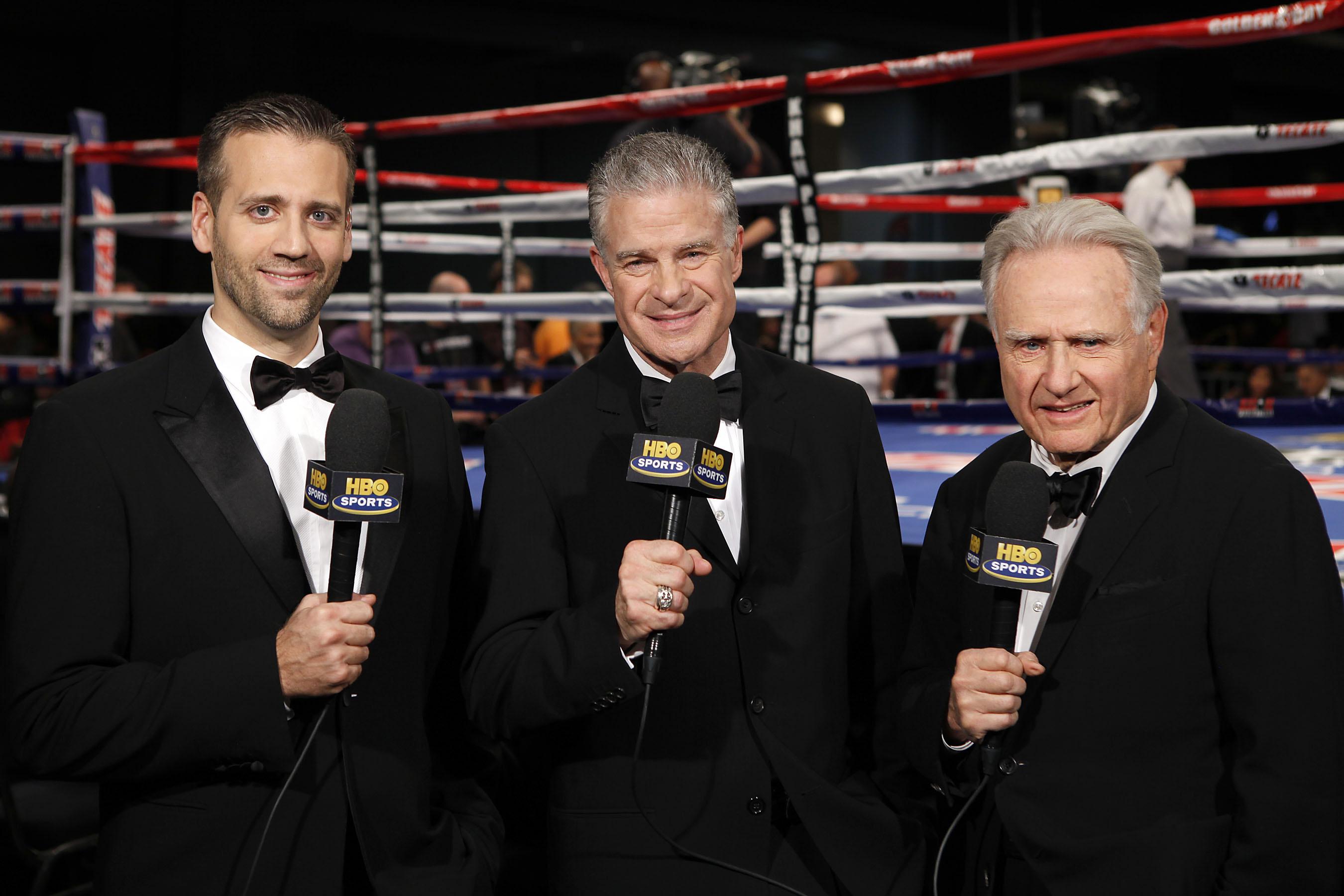 HBO WCB .Max Kellerman, Jim Lampley & Larry Merchant.