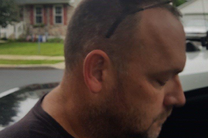 David Hamilton after his capture Friday in Aston, Delaware County.