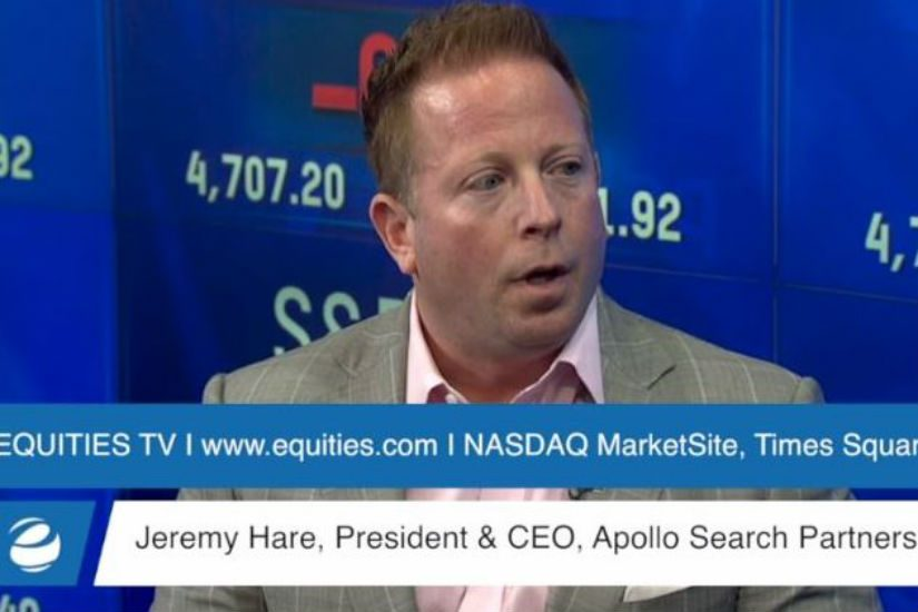 Jeremy Hare, speaking on www.equities.com about the staffing industry.