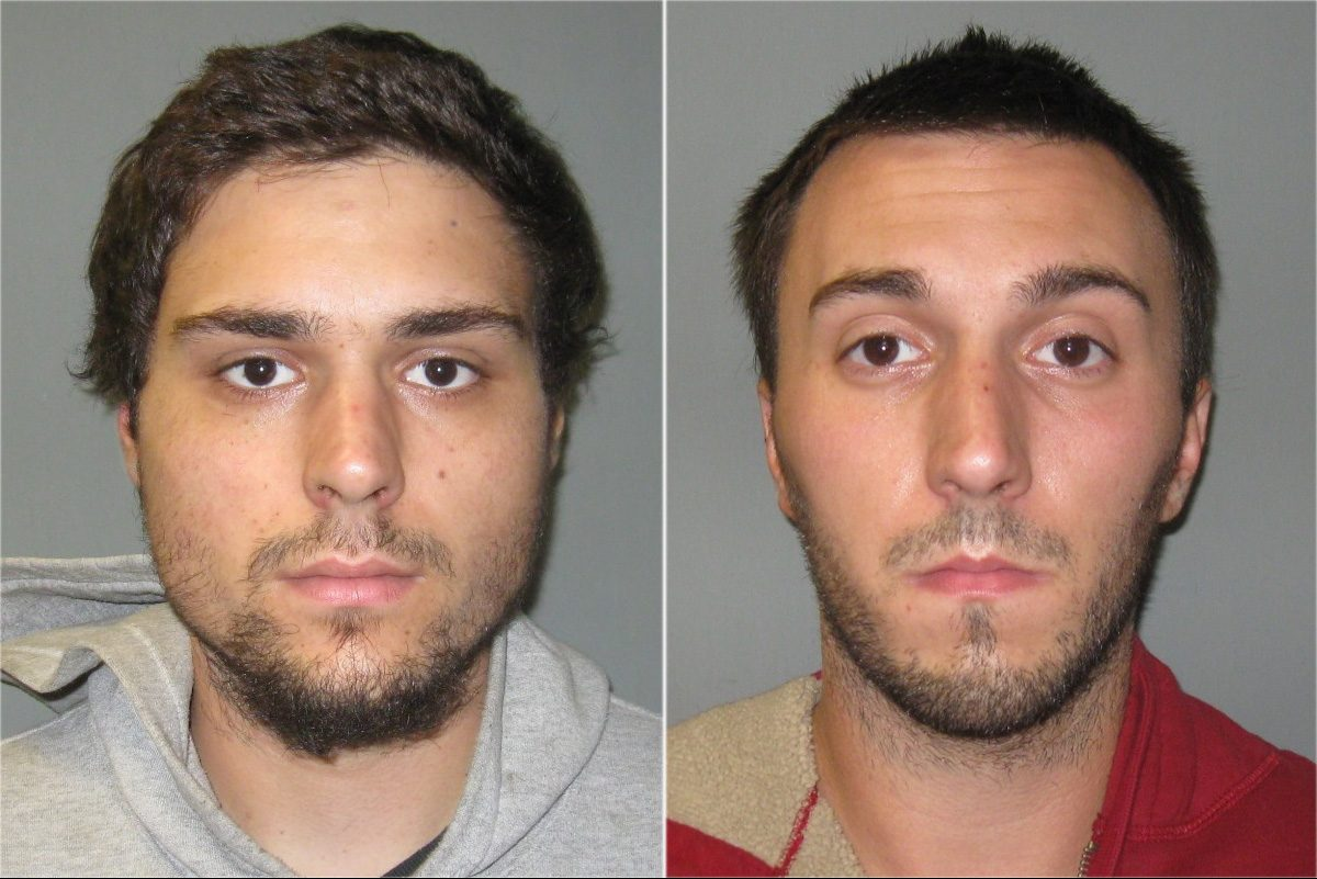 Christopher Costello (right) and his brother Bryan Costello (left) have been sentenced to prison in the slaying of Justin Dubois.