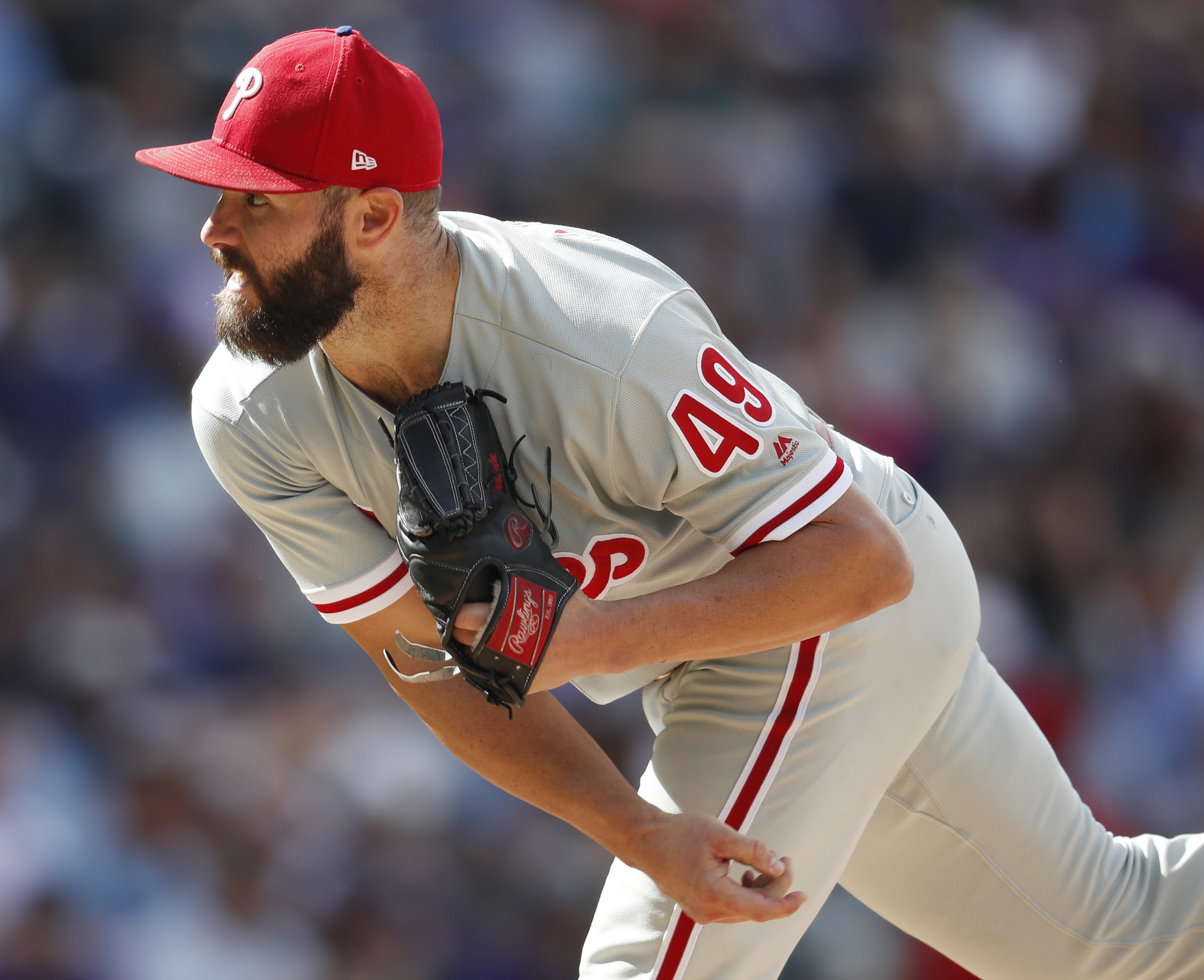 Phillies pitcher Jake Arrieta is general manager Matt Klentaks biggest free-agent signing to date.