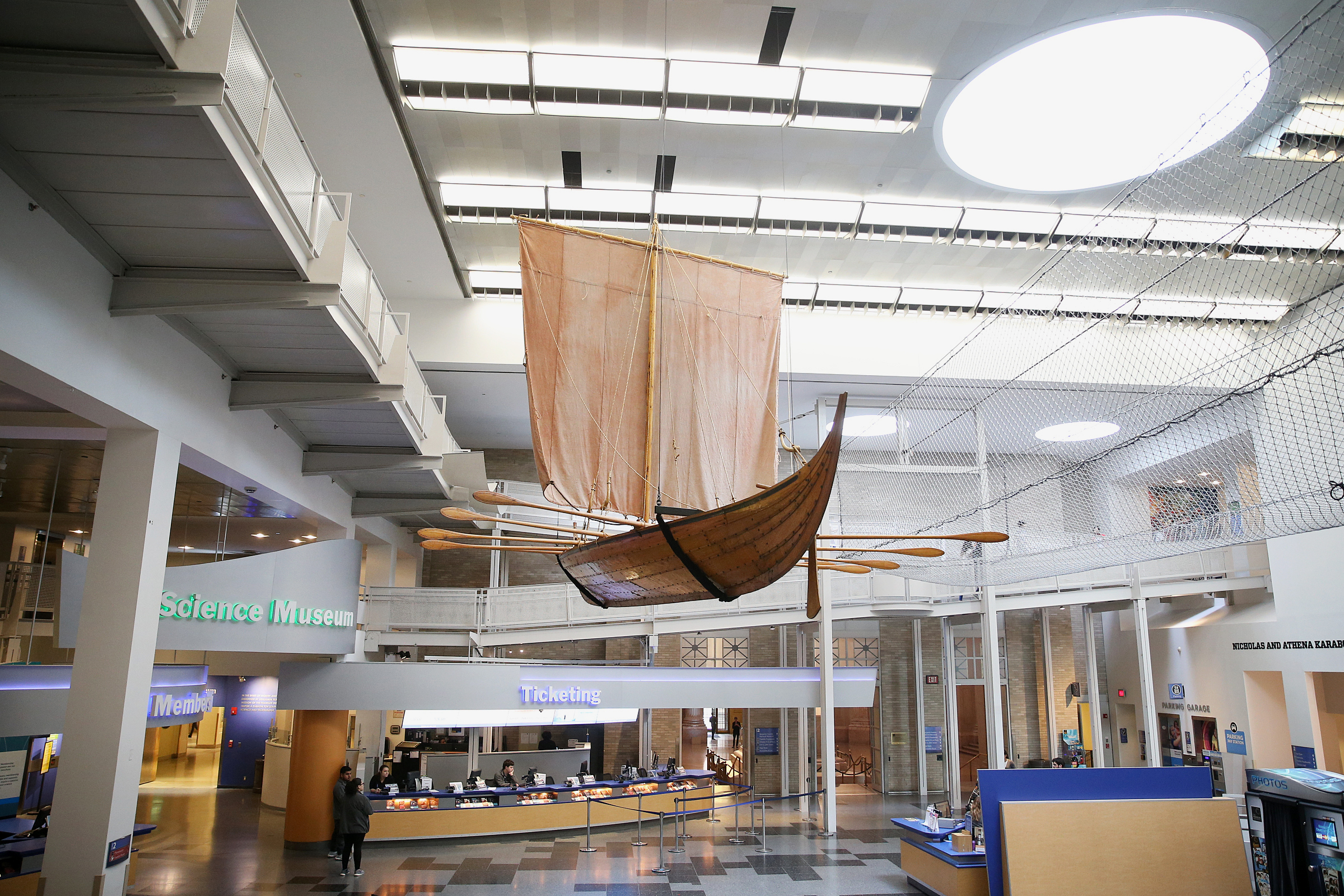 A reconstructed Viking ship is pictured in the atrium as part of the Franklin Institute´s upcoming exhibit about Vikings, in Philadelphia on Tuesday, Oct. 9, 2018. The exhibit opens Saturday.