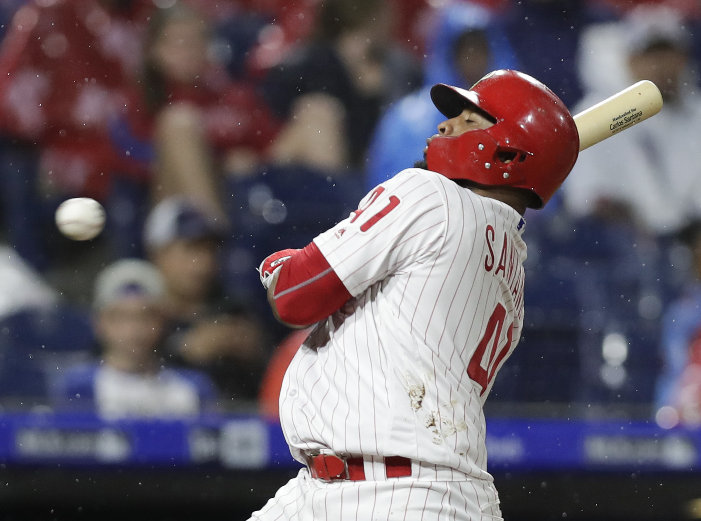 Phillies first baseman Carlos Santana�s production this season could be a cautionary tale on becoming too attracted to free agents.